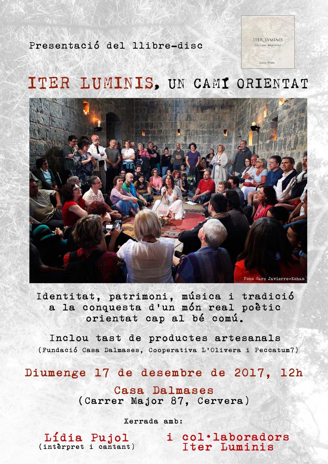 Lídia Pujol presenta el llibre-disc 'Iter Luminis, un camí orientat' a Casa Dalmases de Cervera