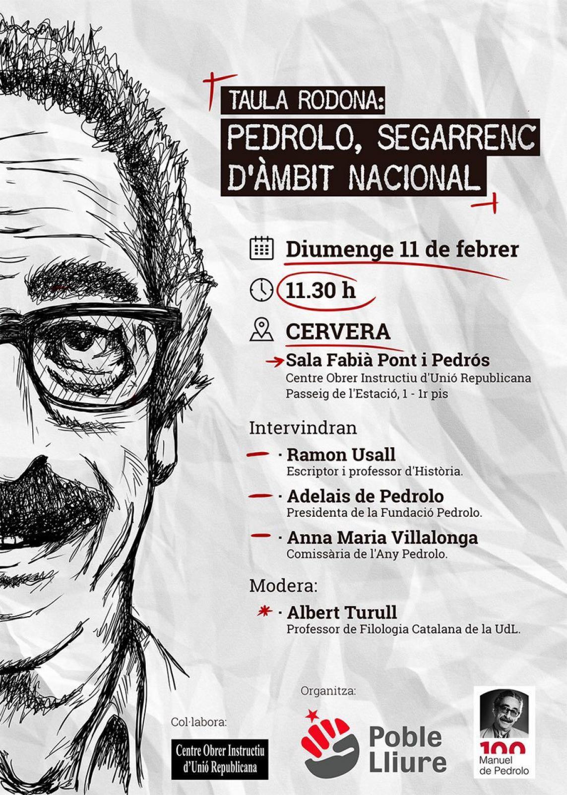 Taula Rodona: Pedrolo, segarrenc d'àmbit nacional