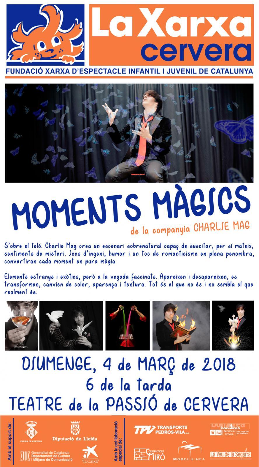 cartell Moments Màgics - Charlie Mag