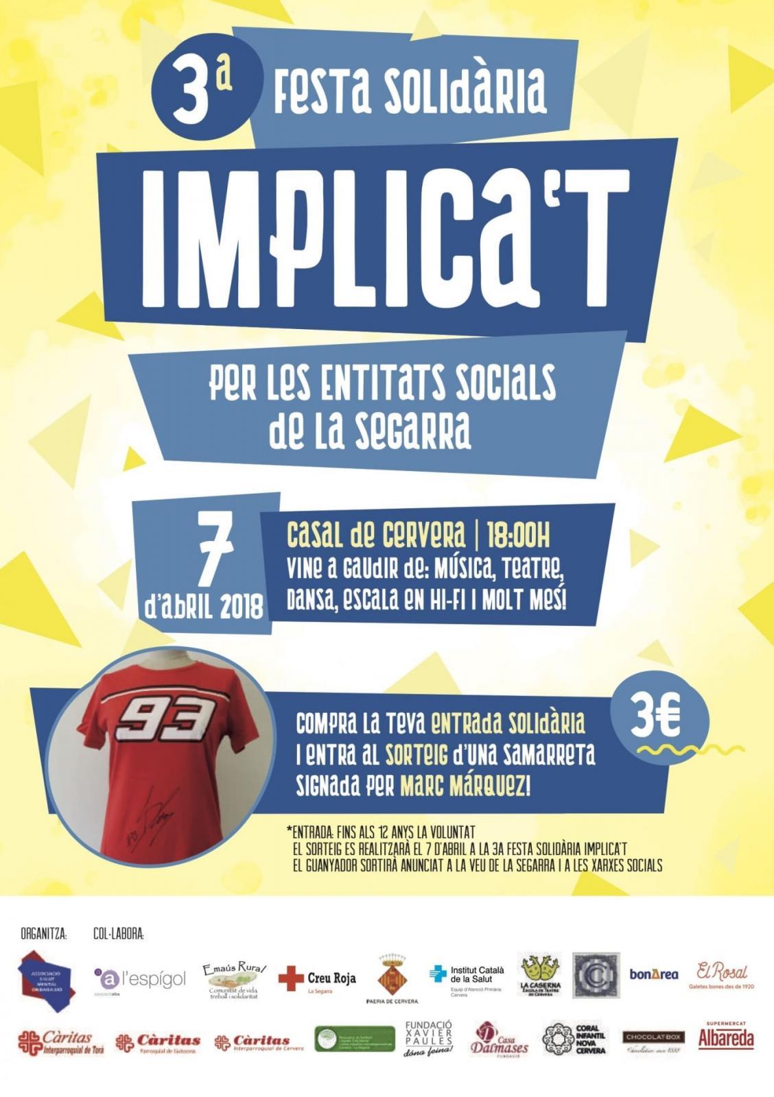 3ª Festa Implica't per les entitats socials de la Segarra