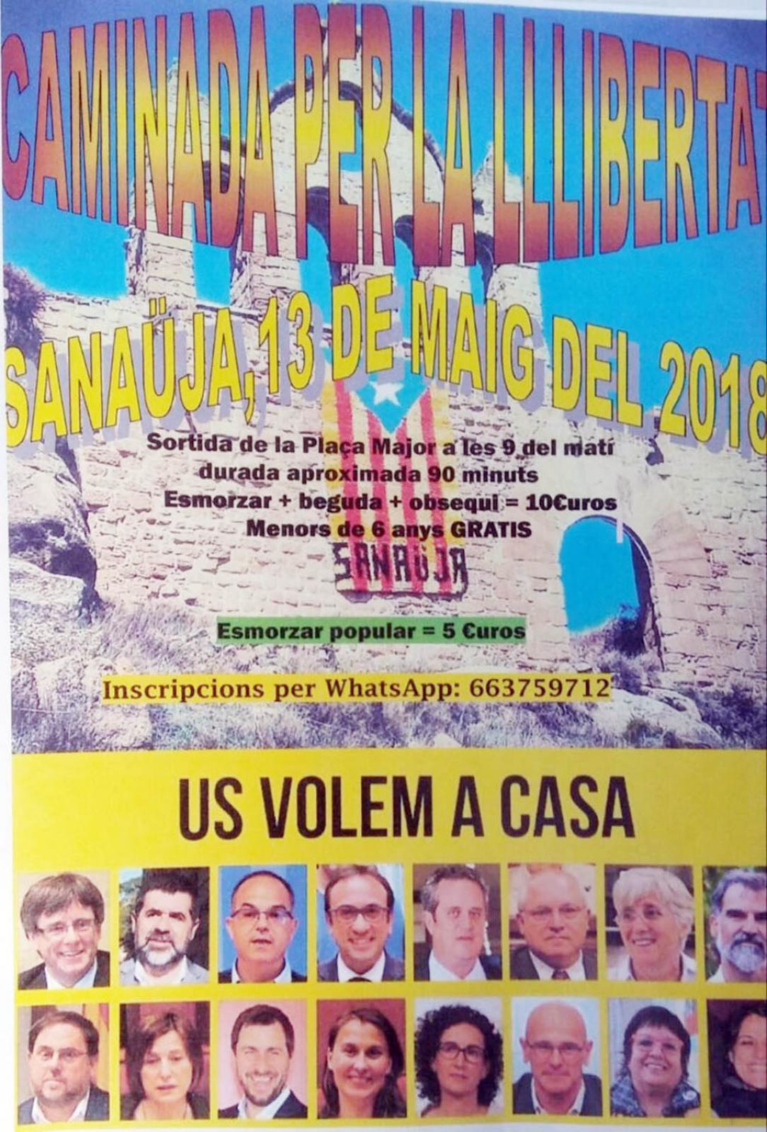 Caminada per la llibertat a Sanaüja