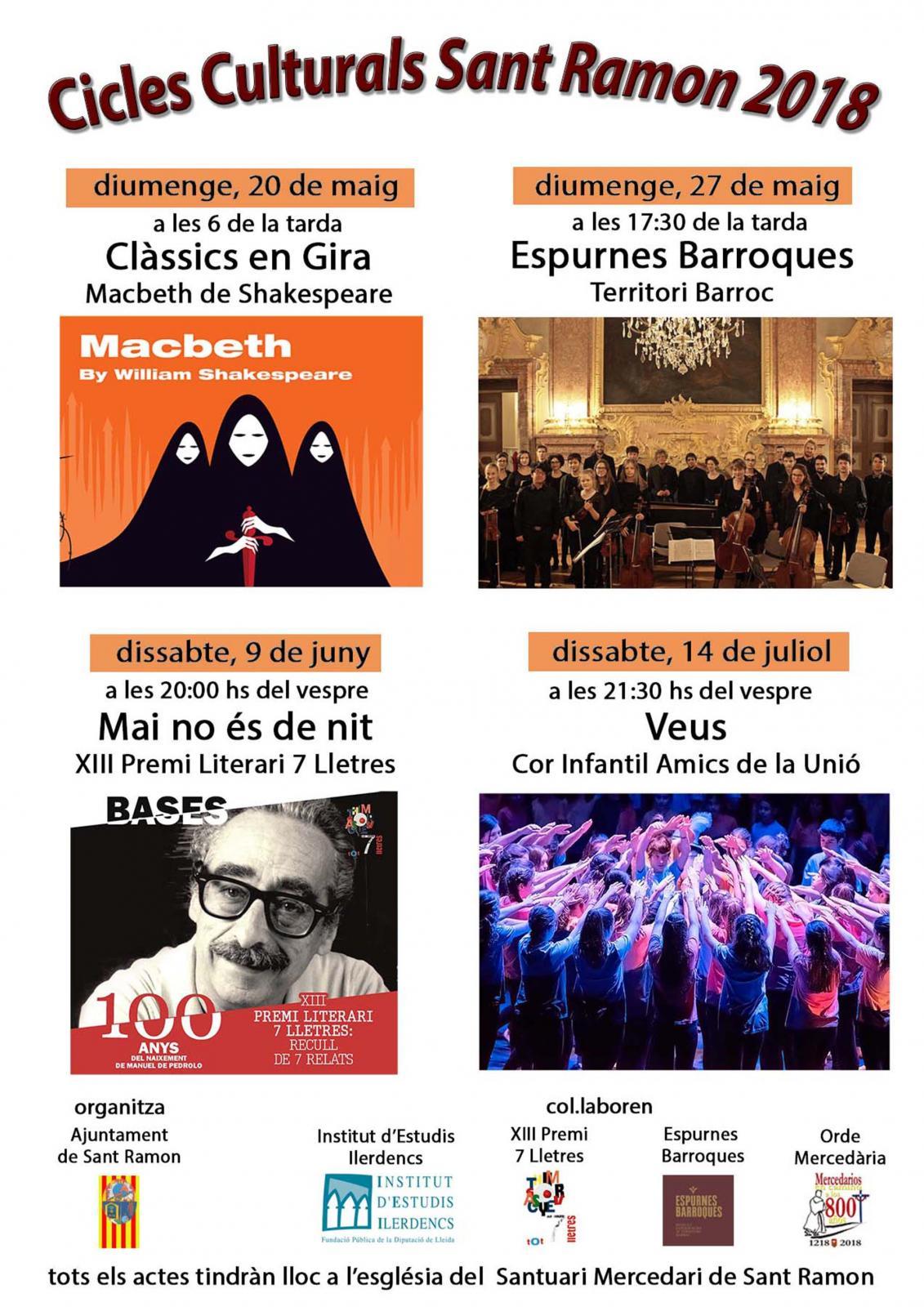 Cicles culturals Sant Ramon 2018