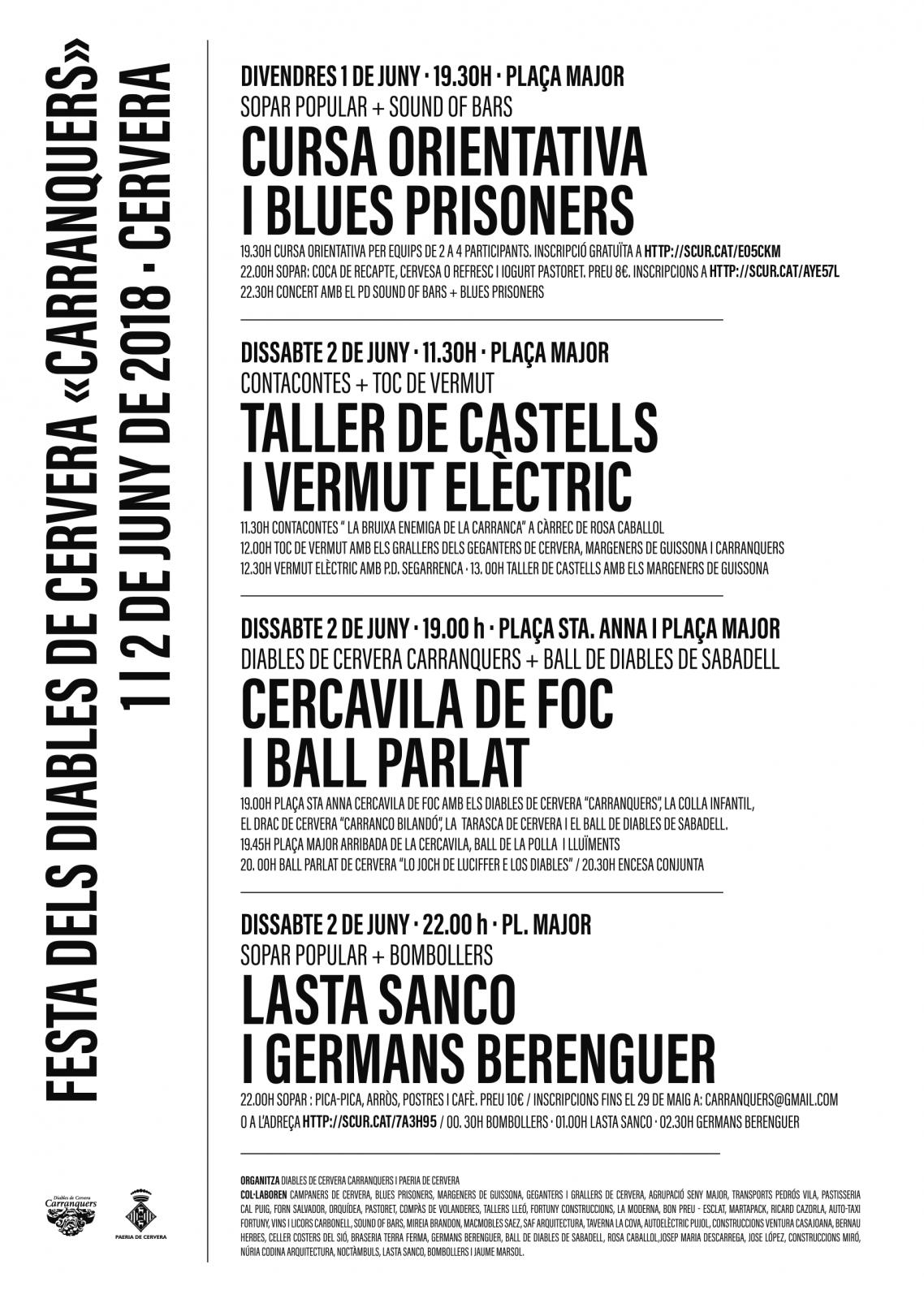 cartell Festa dels Diables de Cervera 'Carranquers'