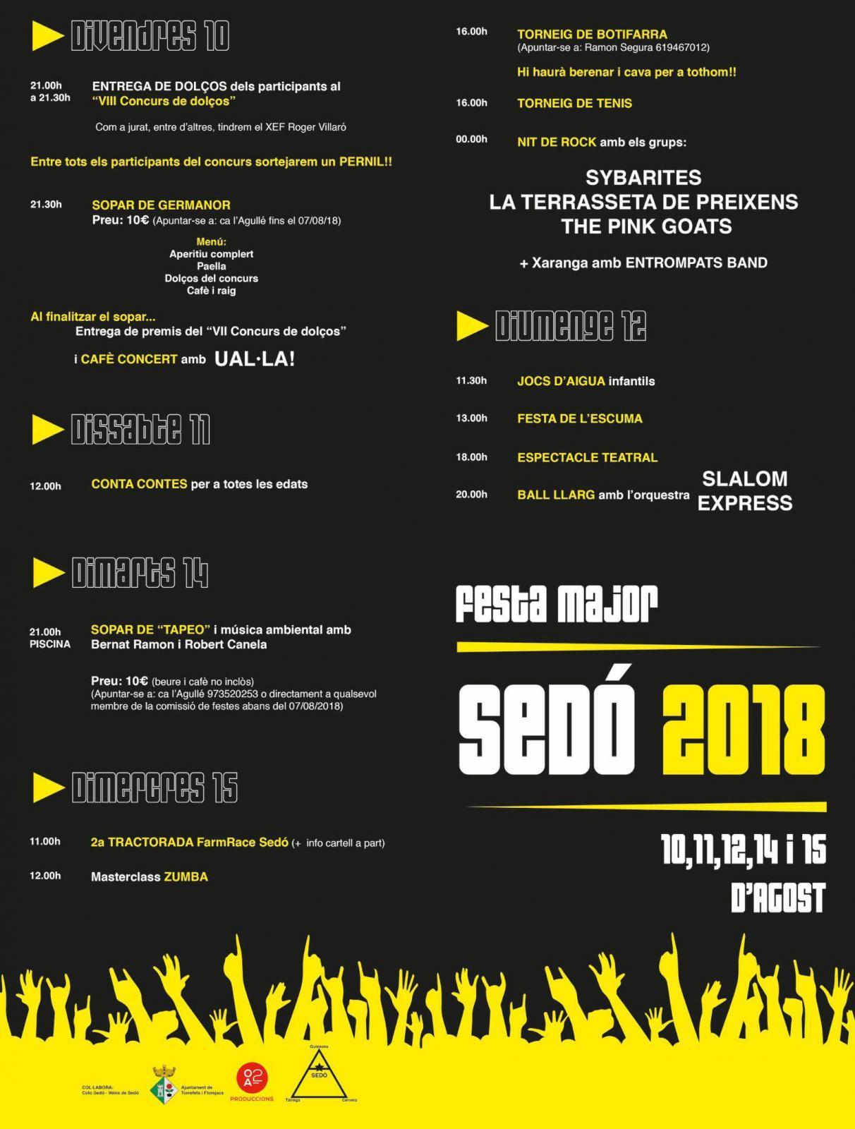 Festa major de Sedó 2018
