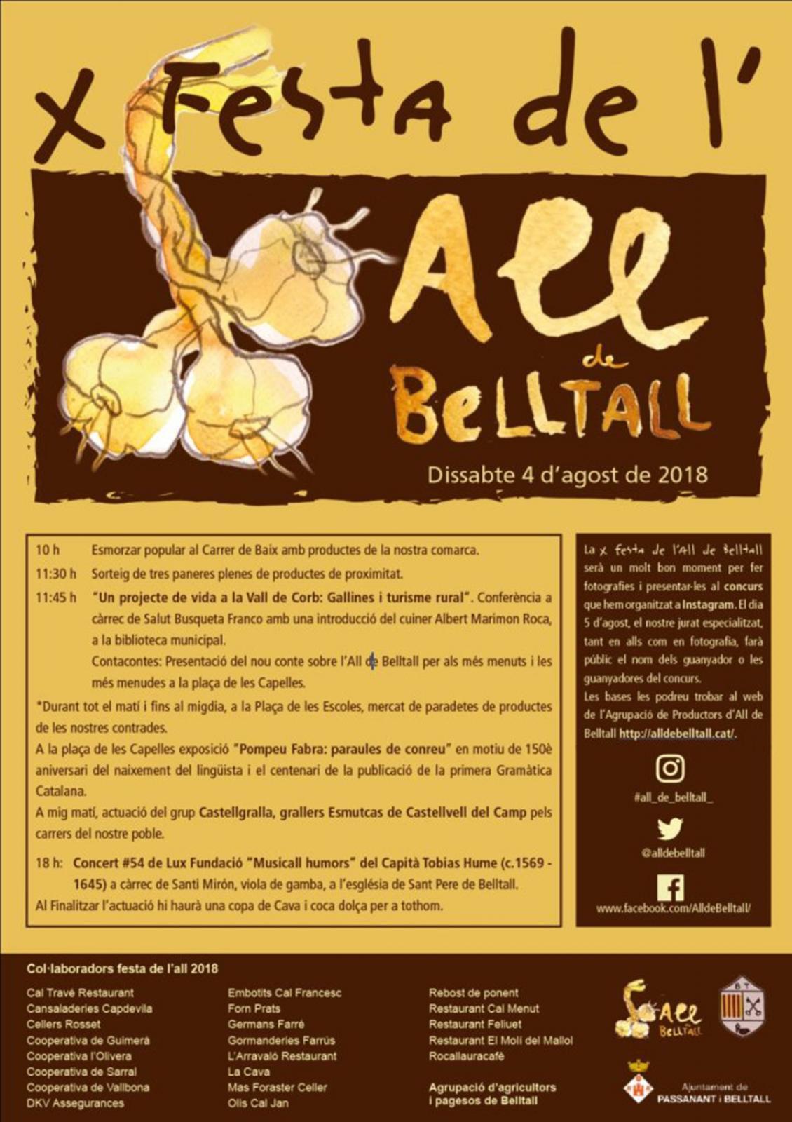 Xa Festa de l'all de Belltall