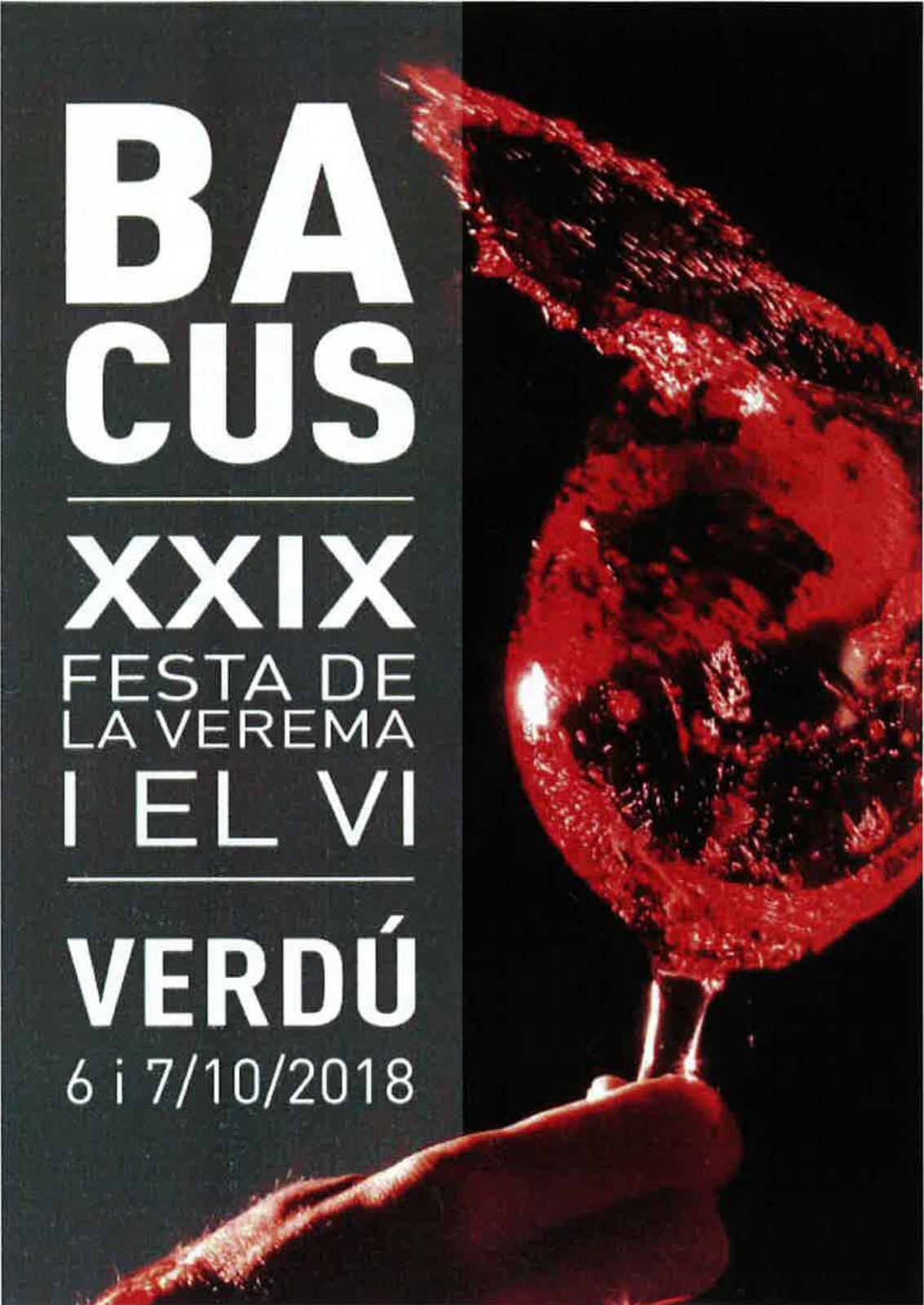 29a Festa de la Verema i el Vi Bacus Verdú
