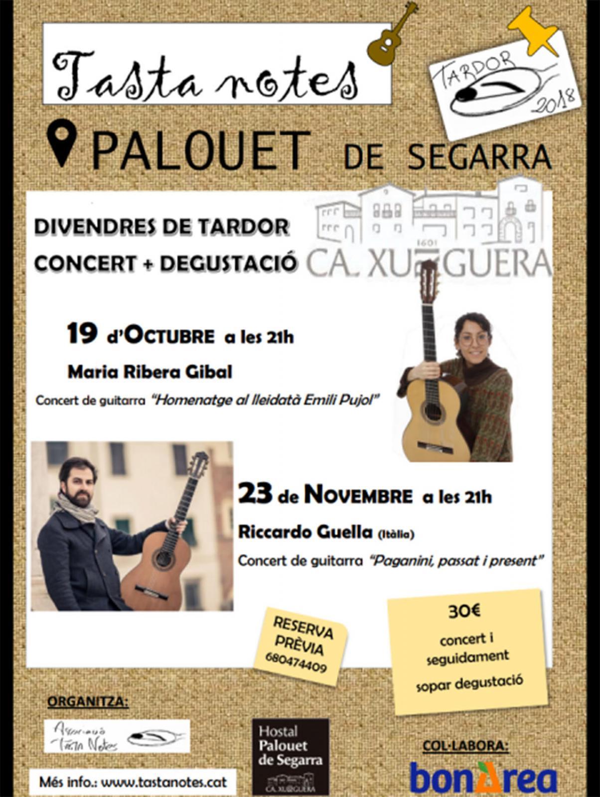 Concert Degustació amb la guitarrista Maria Ribera