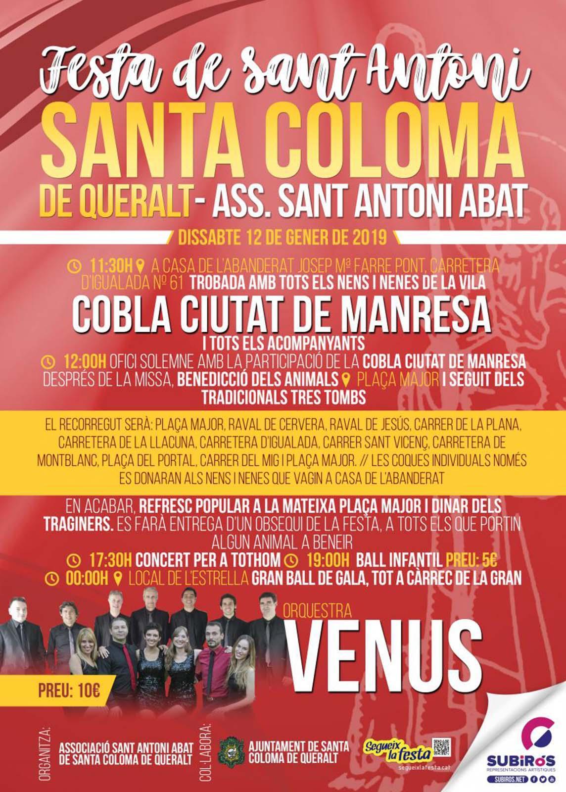 Festa de Sant Antoni 2019 Santa Coloma de Queralt