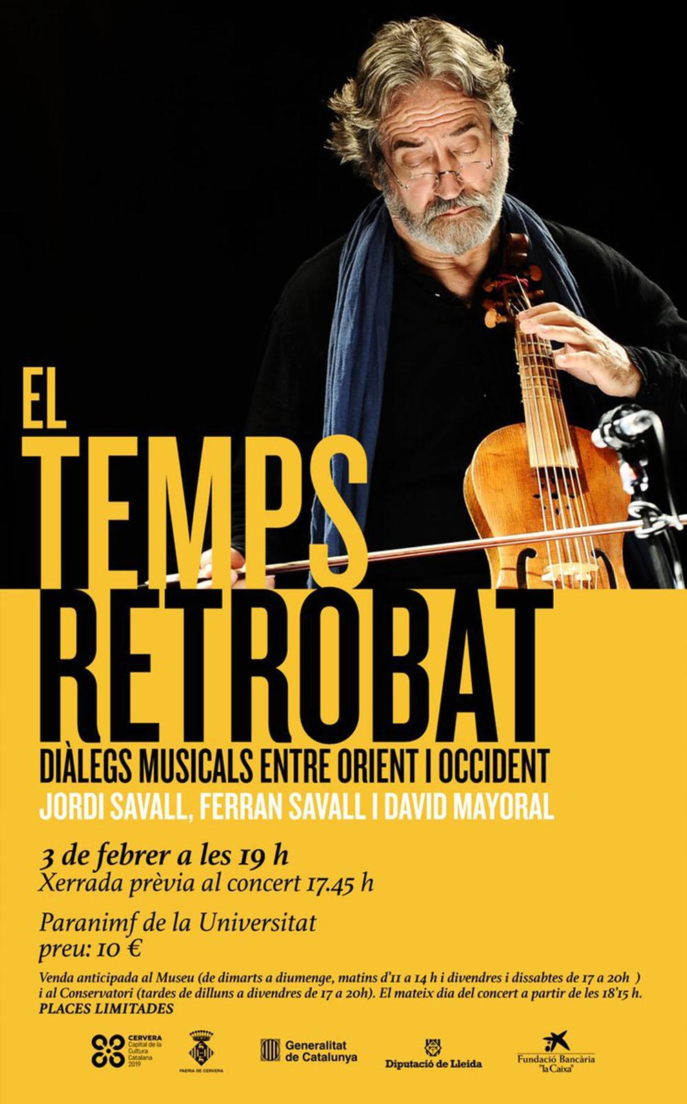 Concert de Jordi Savall 'El temps retrobat'