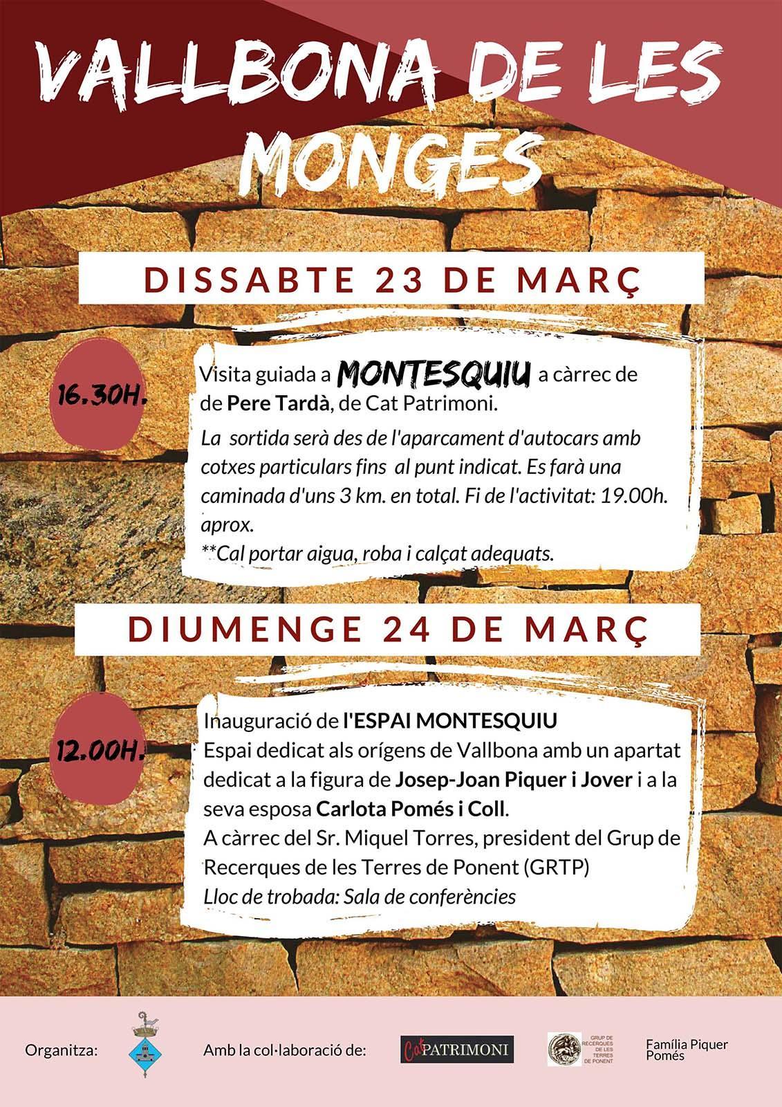 cartell Visita guiada a  Montesquiu