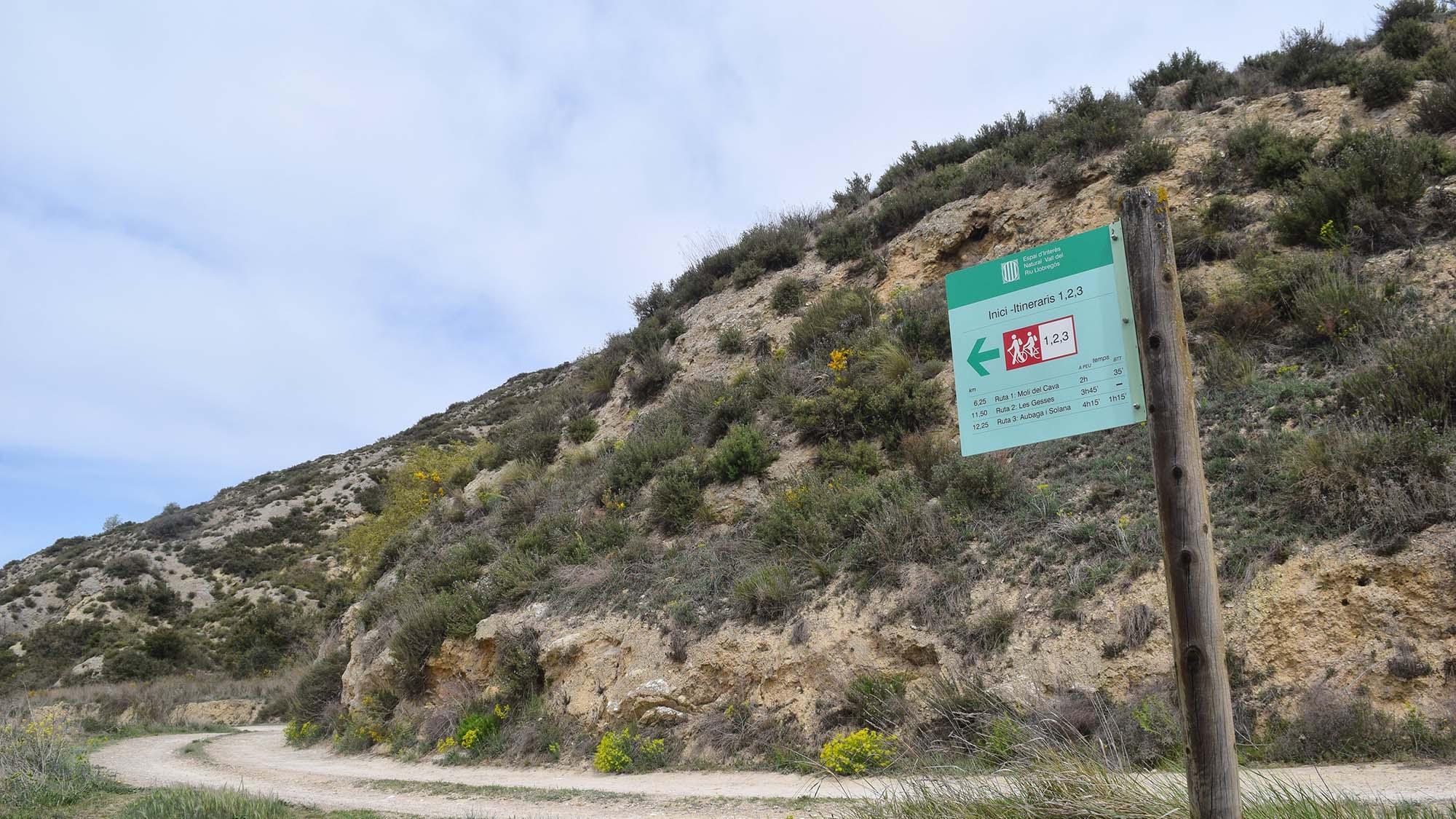 Millora de la senyalètica de les rutes de l'EIN de la Vall del Llobregós