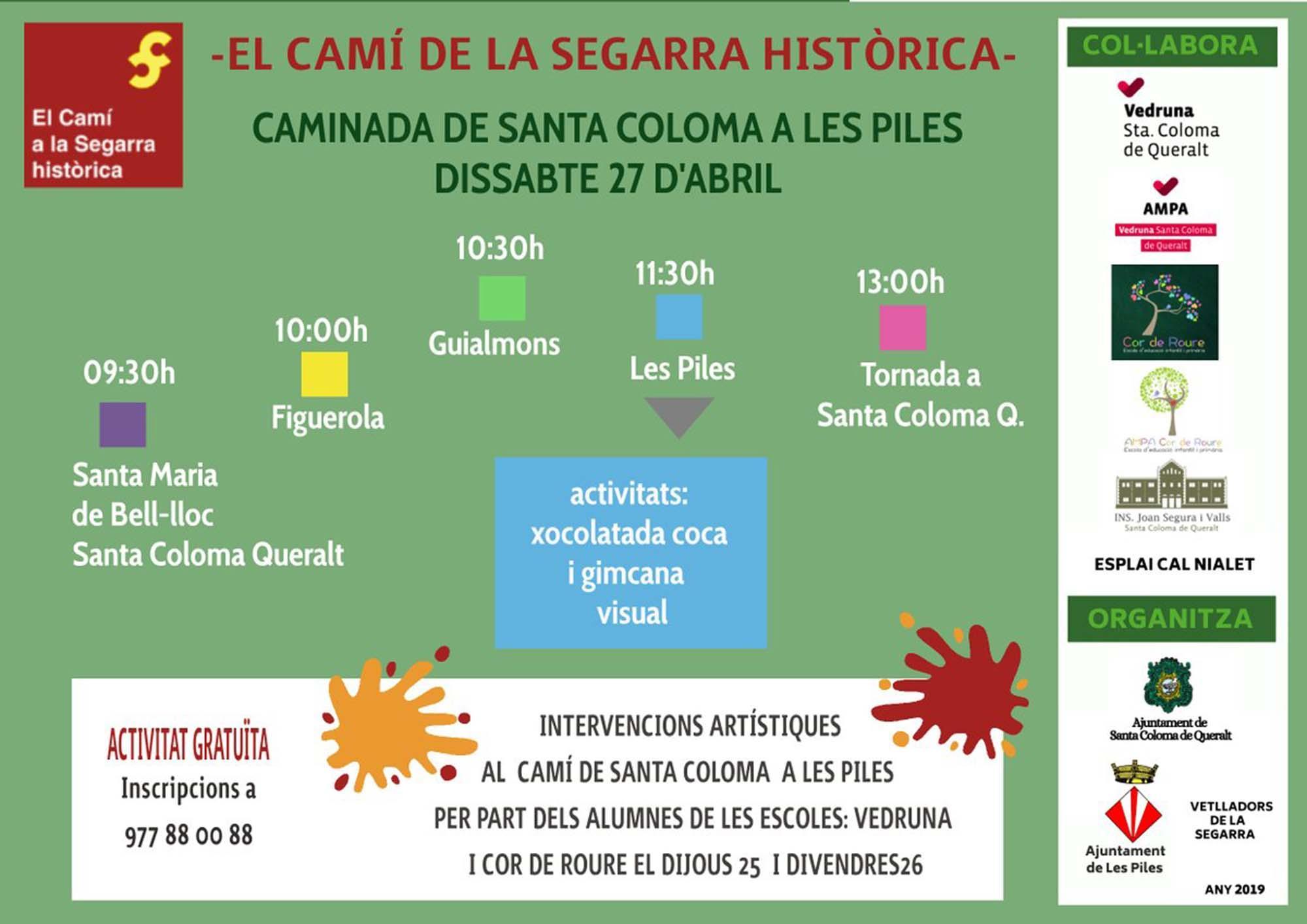El Camí: caminada de Santa Coloma de Queralt a Les Piles