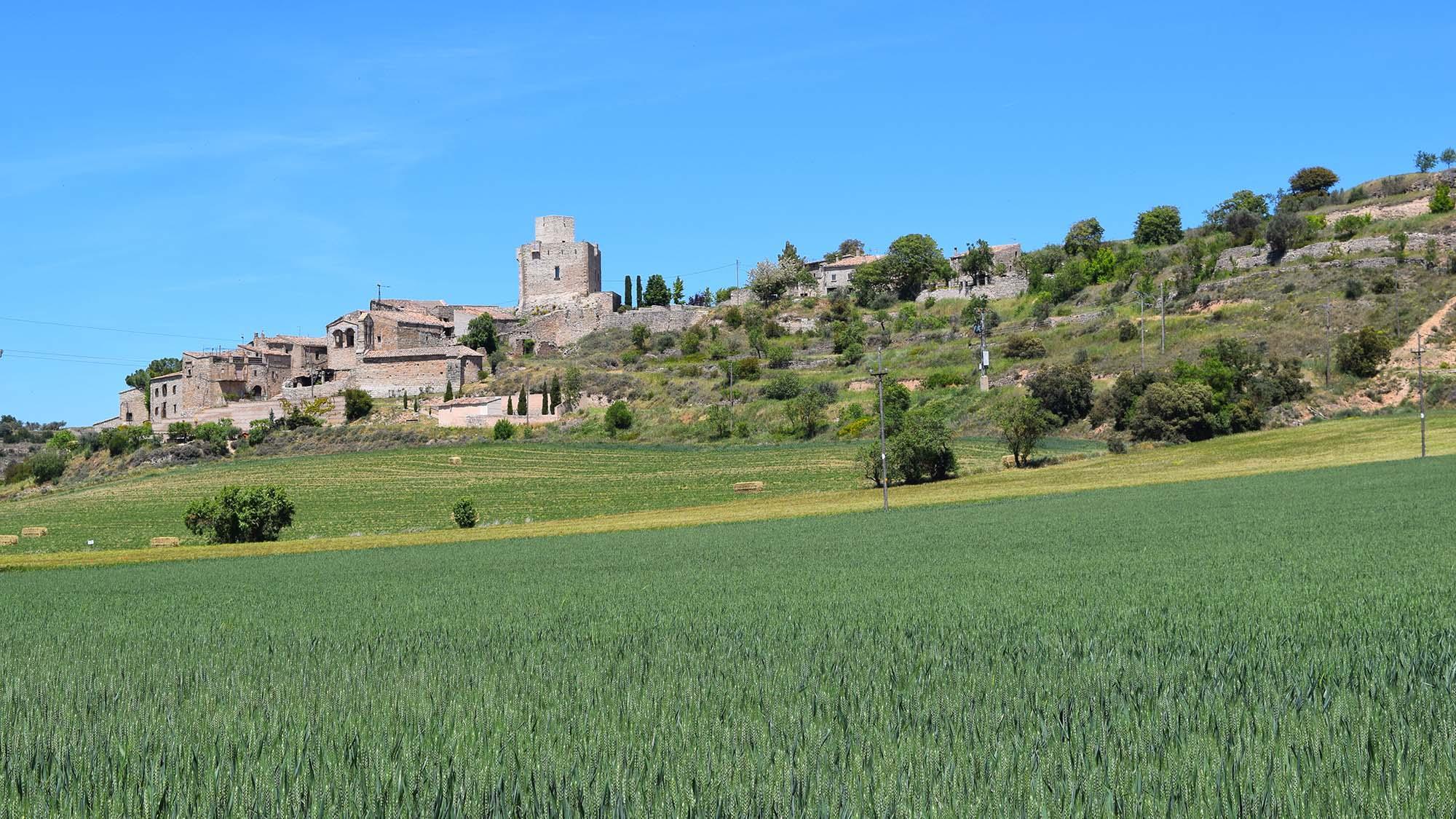 Sentier de randonnée pédestre Les Oluges - Malgrat - La Prenyanosa - Castellnou d'Oluges - Les Oluge