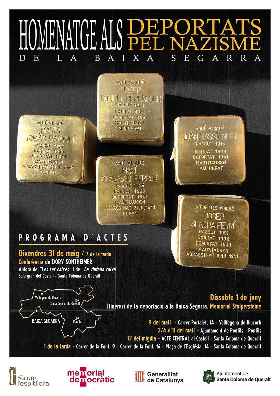 Stolpersteine a la Baixa Segarra: Una pedra, un nom, una persona