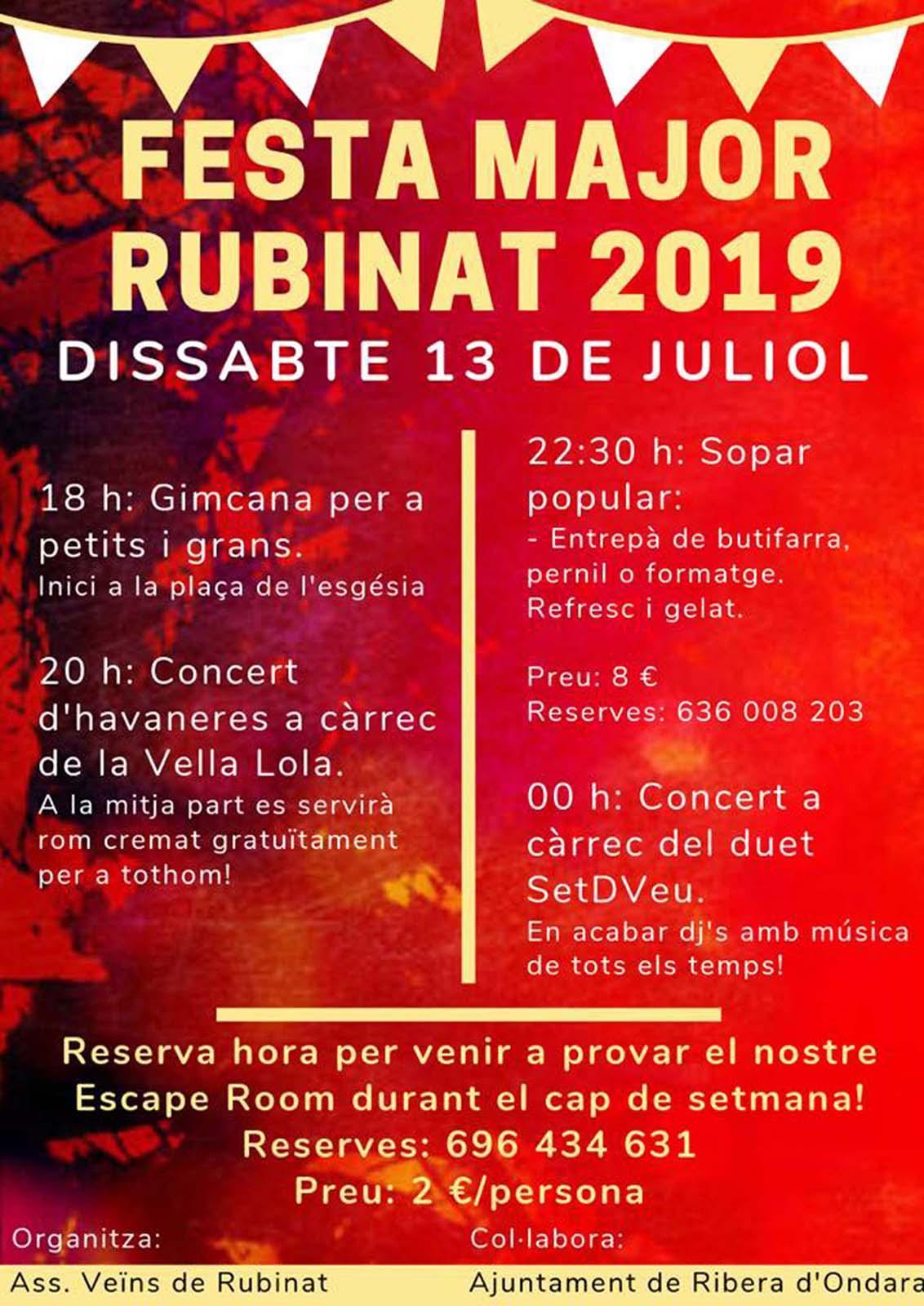 Festa Major de Rubinat 2019