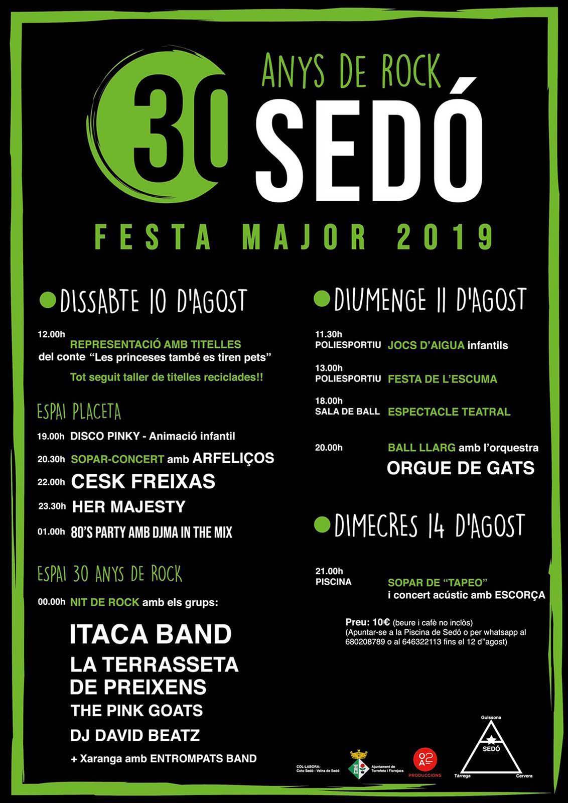 Festa major de Sedó 2019