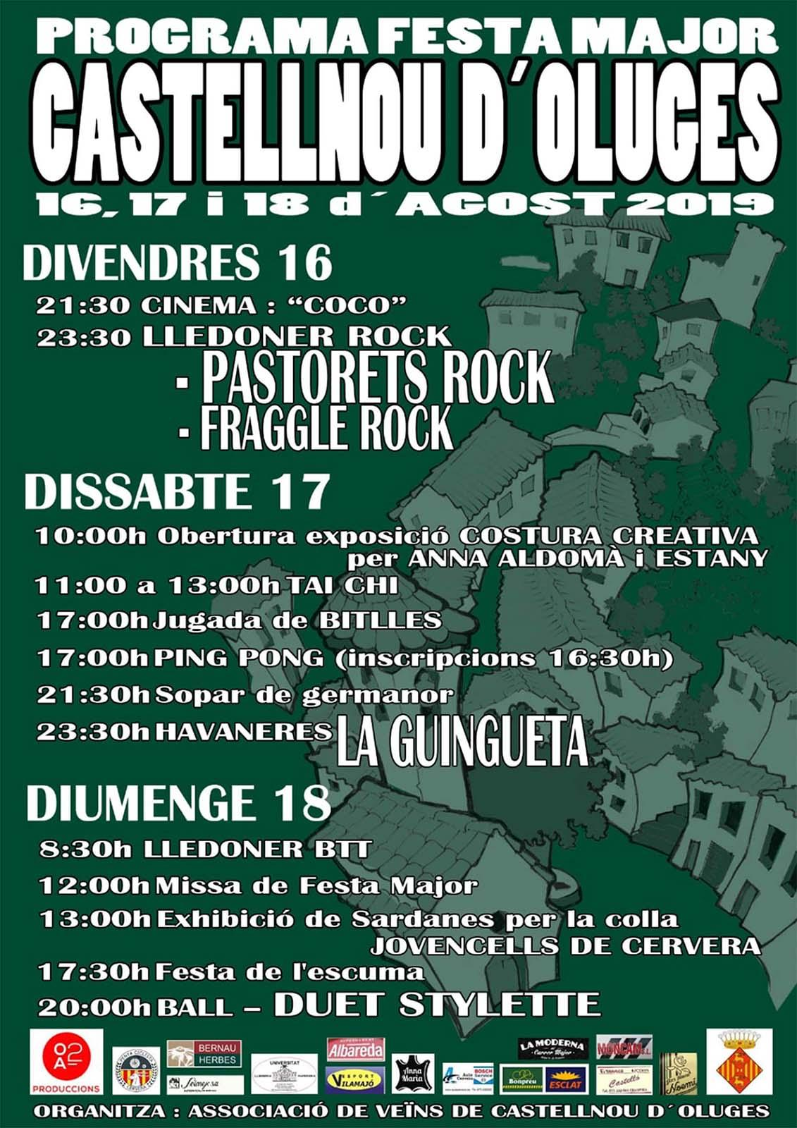 cartell Festa Major de Castellnou d'Oluges 2019