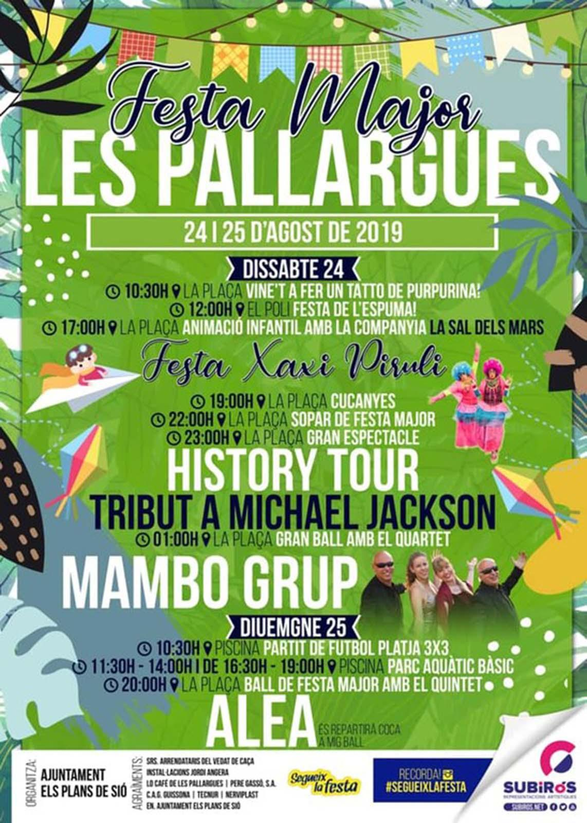 cartell Festa Major de Les Pallargues 2019