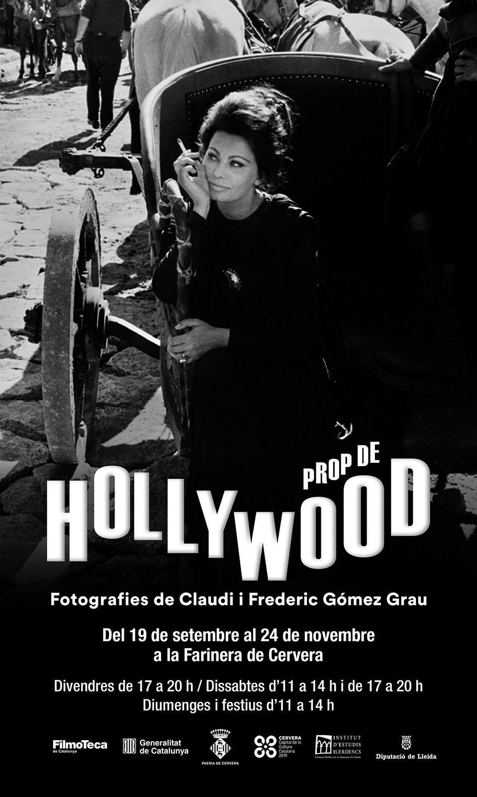 cartell Exposició 'Prop de Hollywood'. Fotografies de Claudi i Frederic Gómez Grau