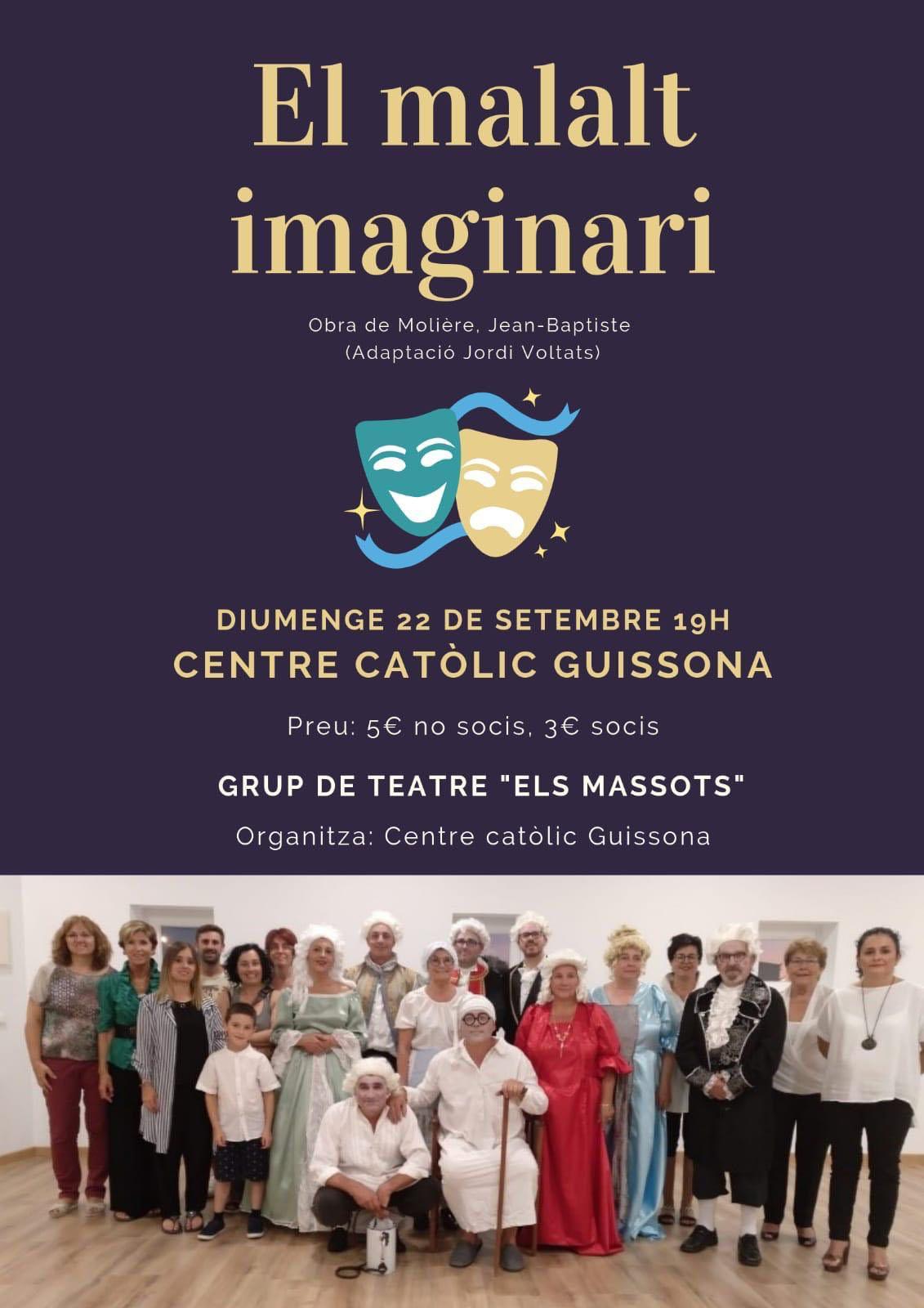 cartell Teatre 'El malalt imaginari'