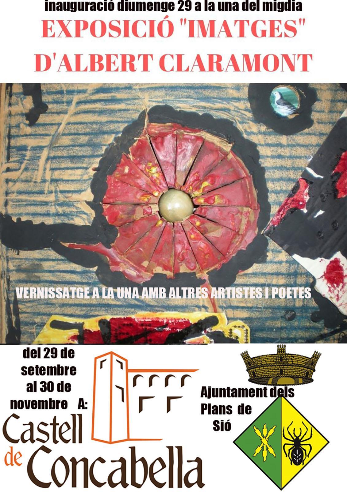 cartell Exposició 'Imatges' d'Albert Claramont