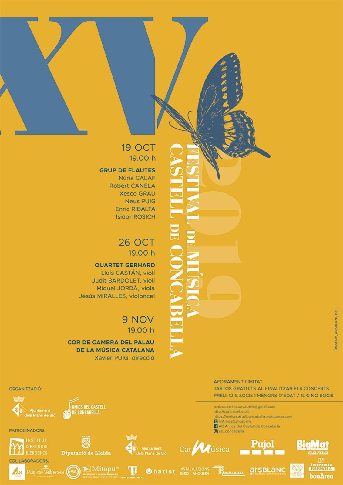 cartell 15è Festival de Música Castell de Concabella