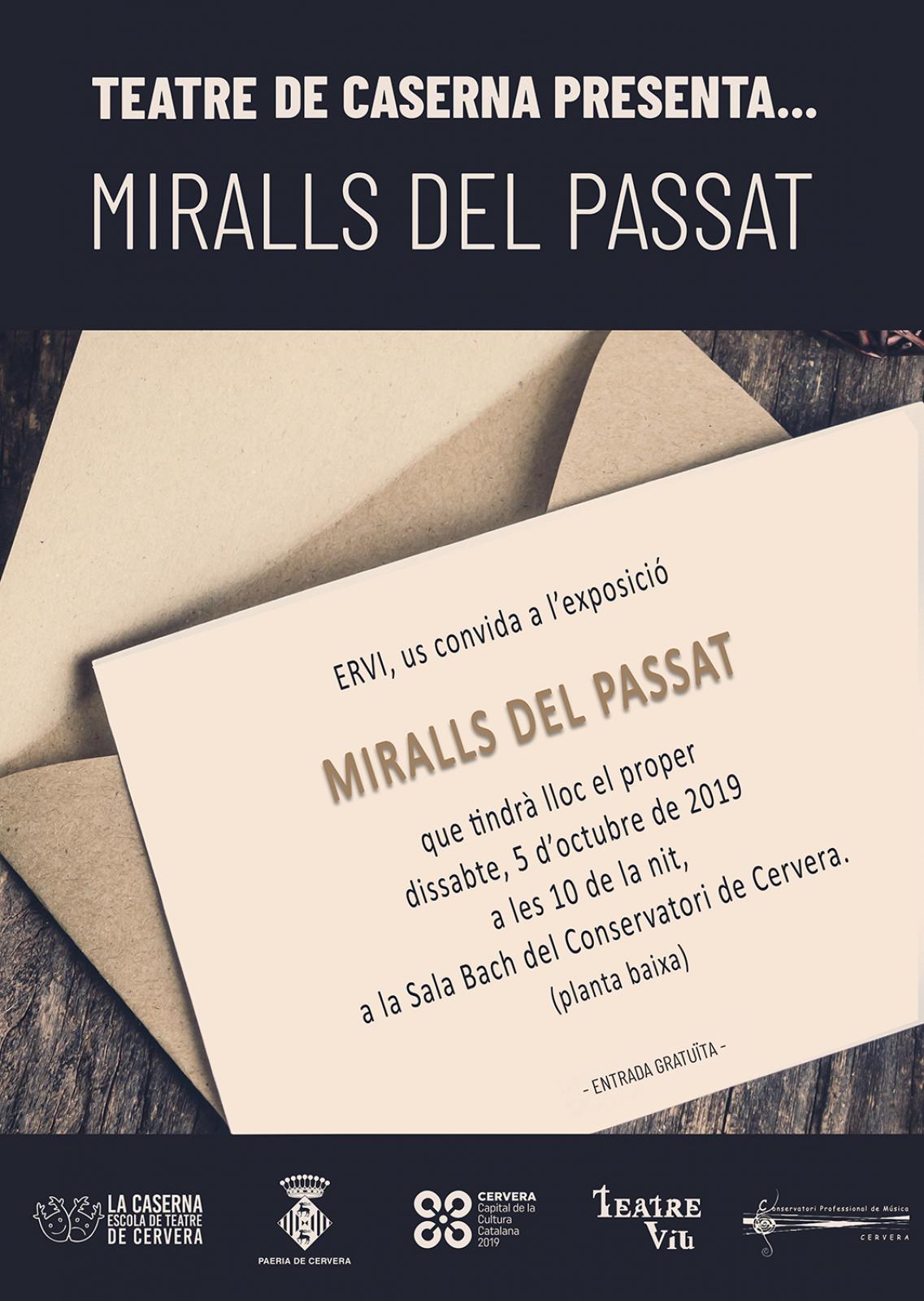 cartell MIRALLS DEL PASSAT. Representació grup adults