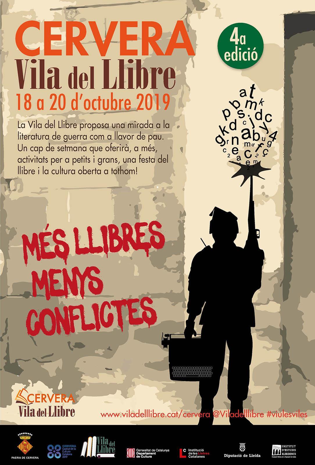 cartell 4a Vila del Llibre de Cervera