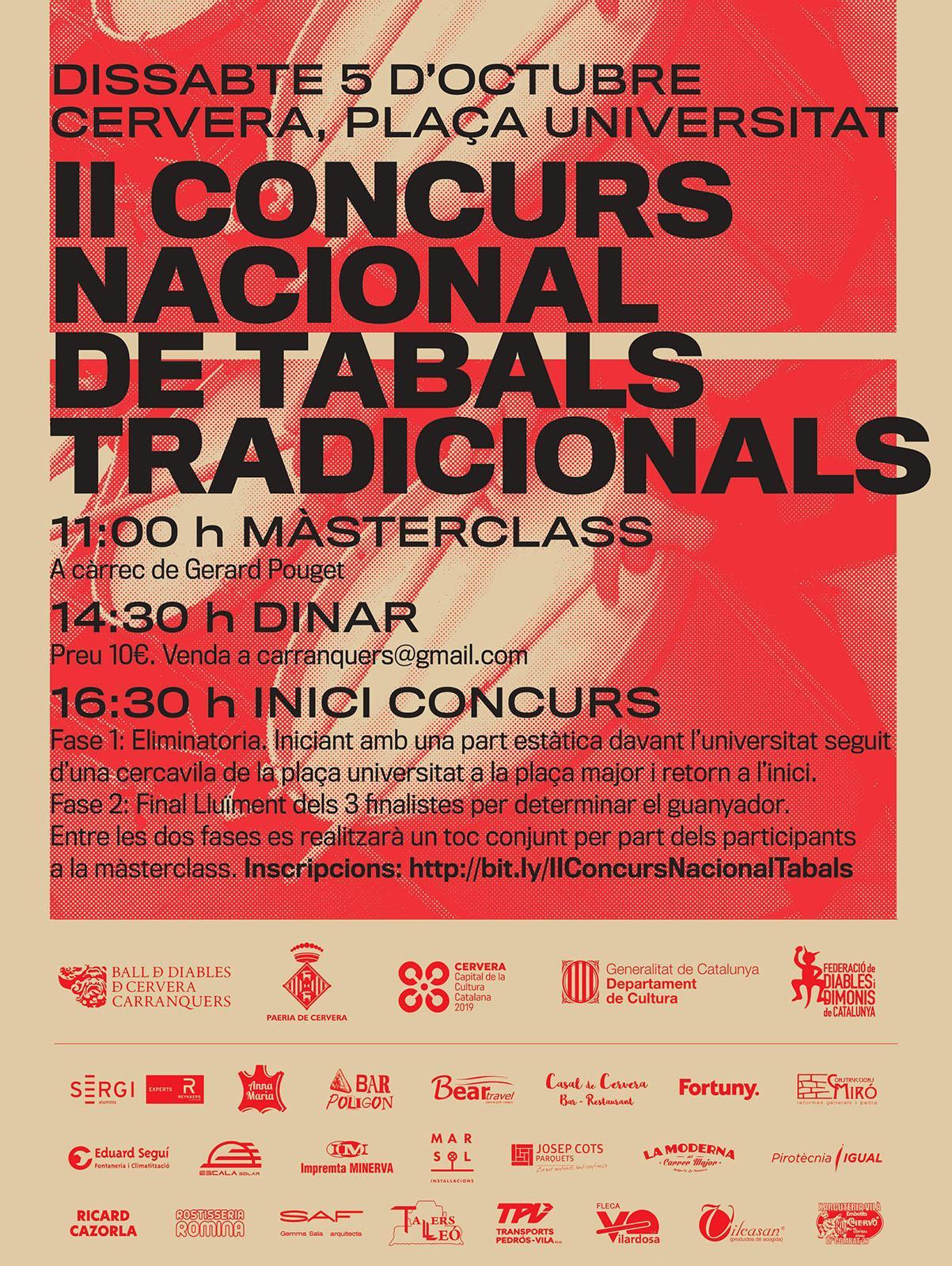 cartell II Concurs Nacional de Tabals Tradicionals