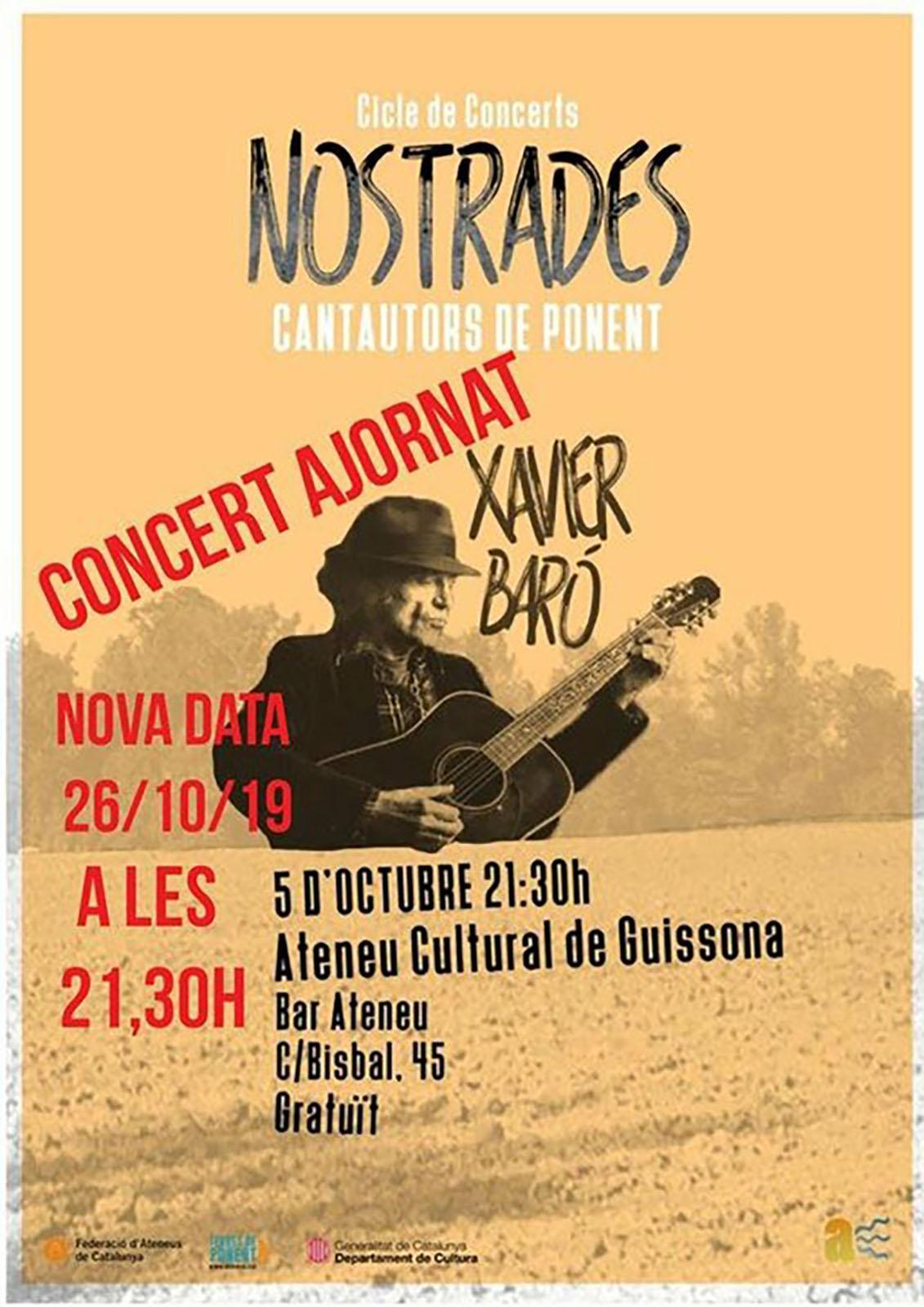 cartell Concert de Xavier Baró