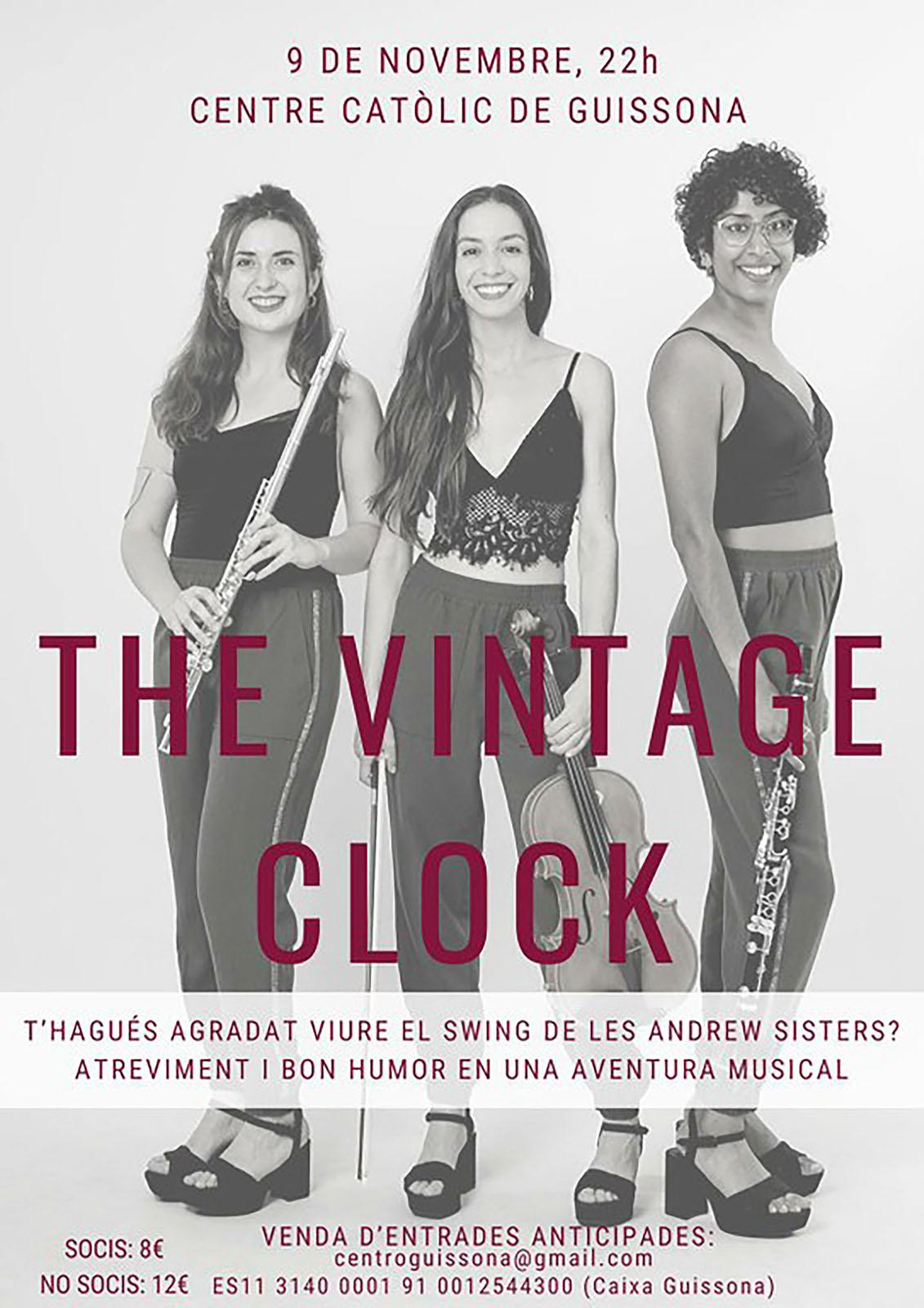 cartell Concert de The Vintage Clock