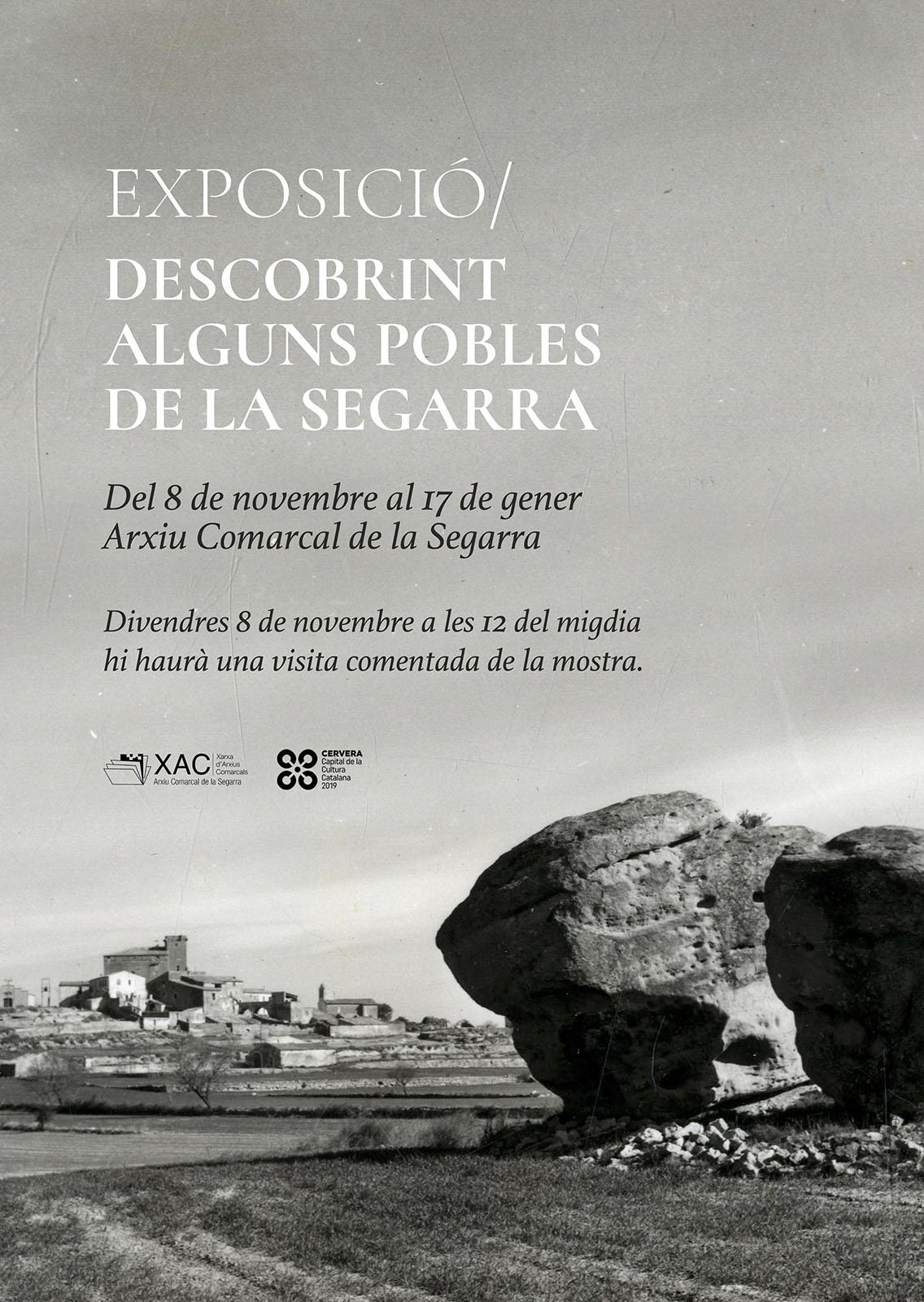 cartell Exposició 'Descobrint alguns pobles de la Segarra'