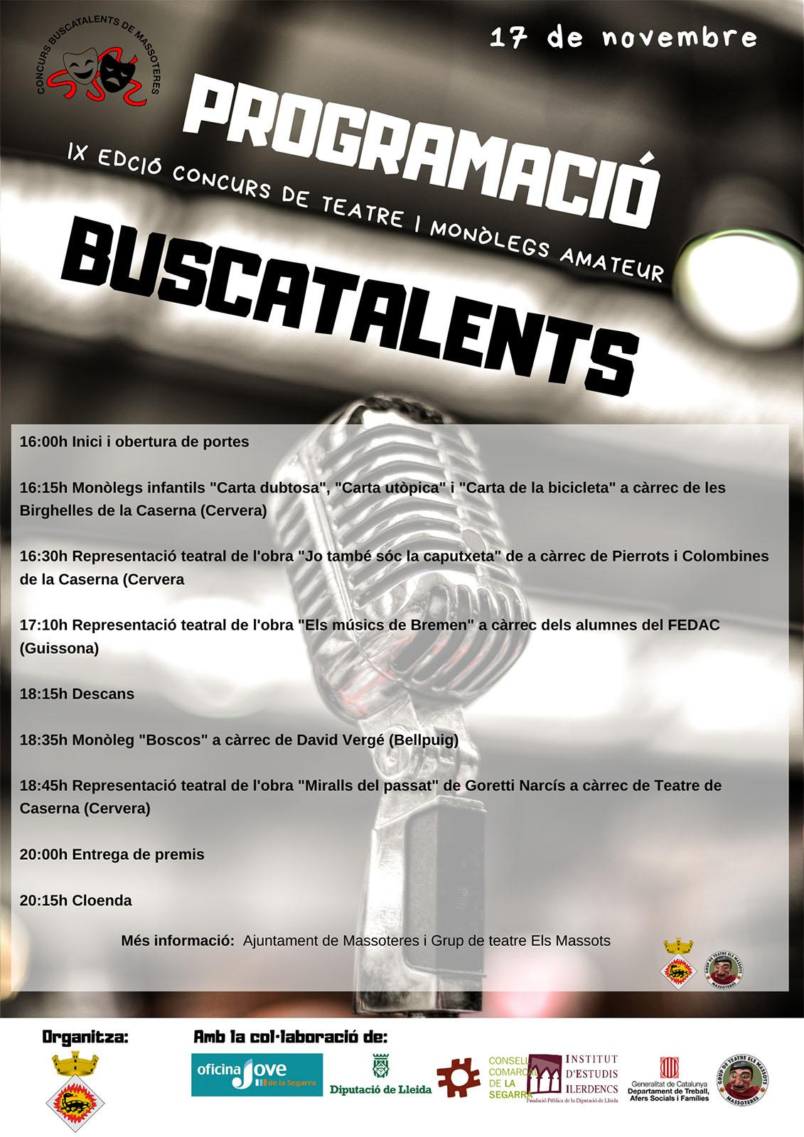 cartell Buscatalents 2019