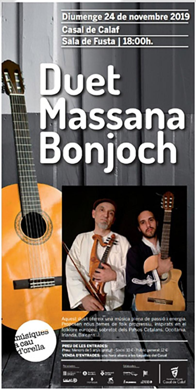 cartell Concert del Duet Massana Bonjoch