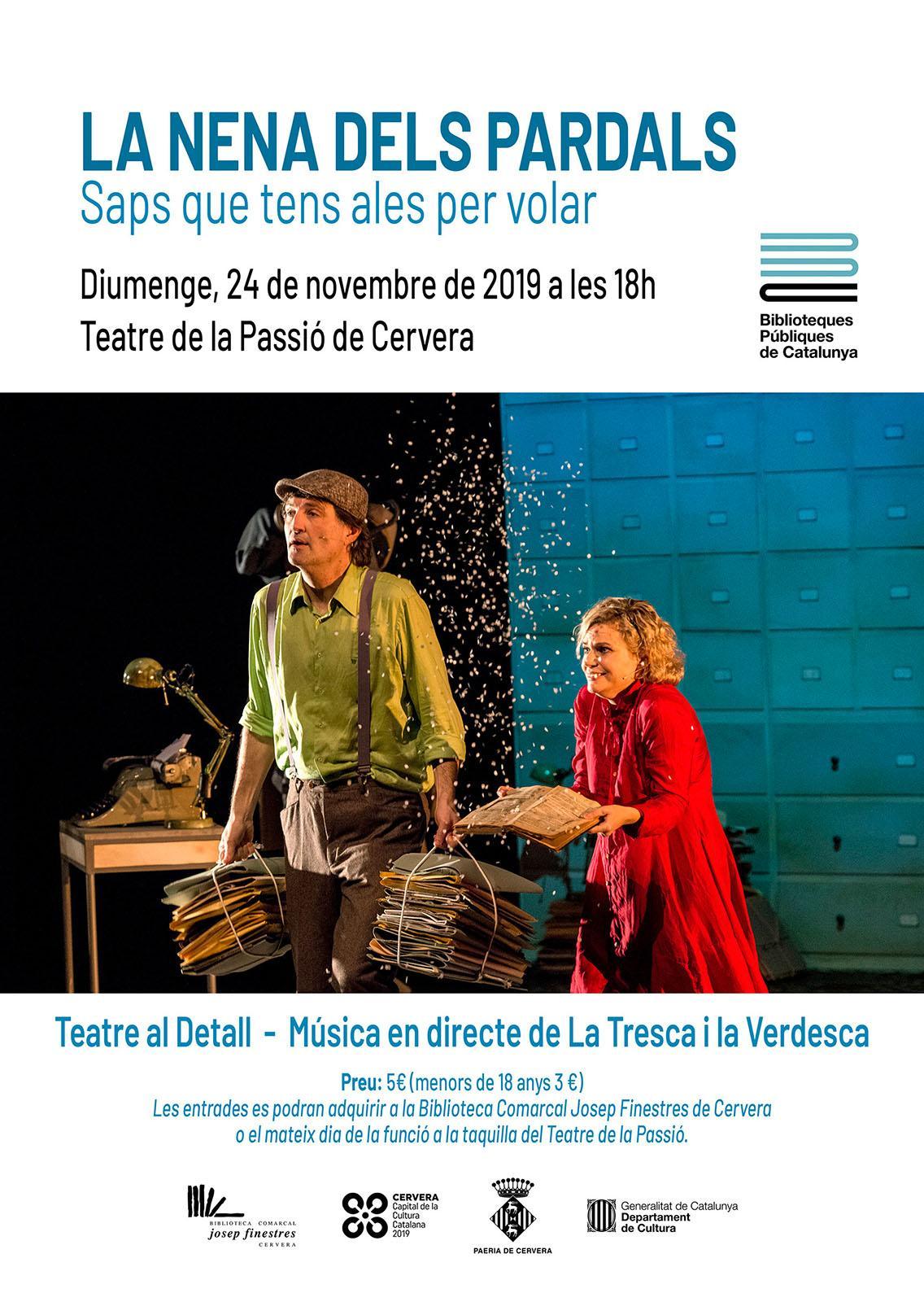 cartell Teatre infantil 'La nena dels pardals'