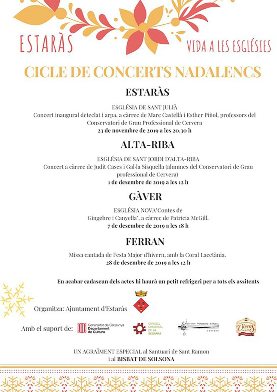 cartell Concert de Judit Cases i Gal·la Sisquella