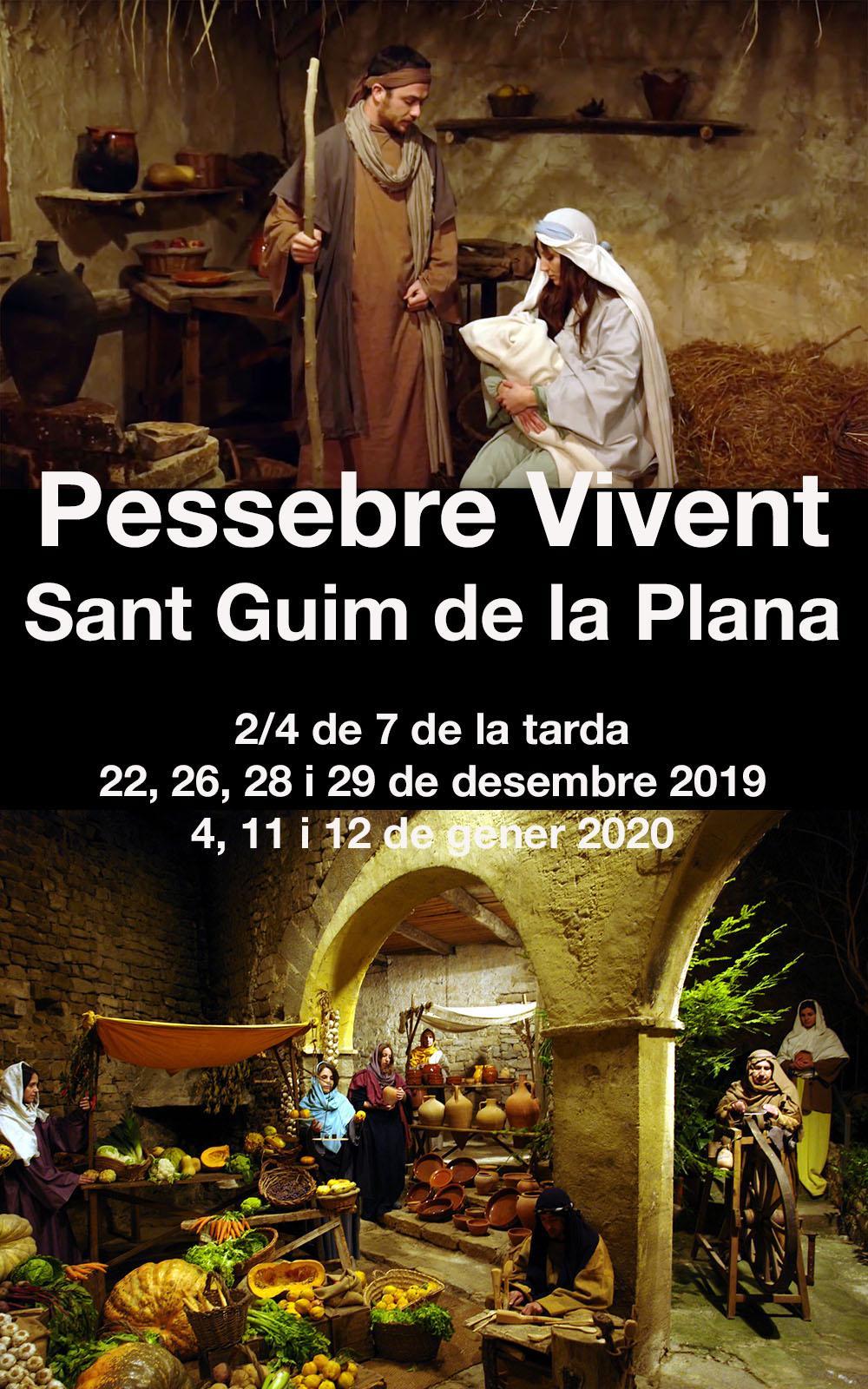 cartell Pessebre vivent de Sant Guim de la Plana 2019