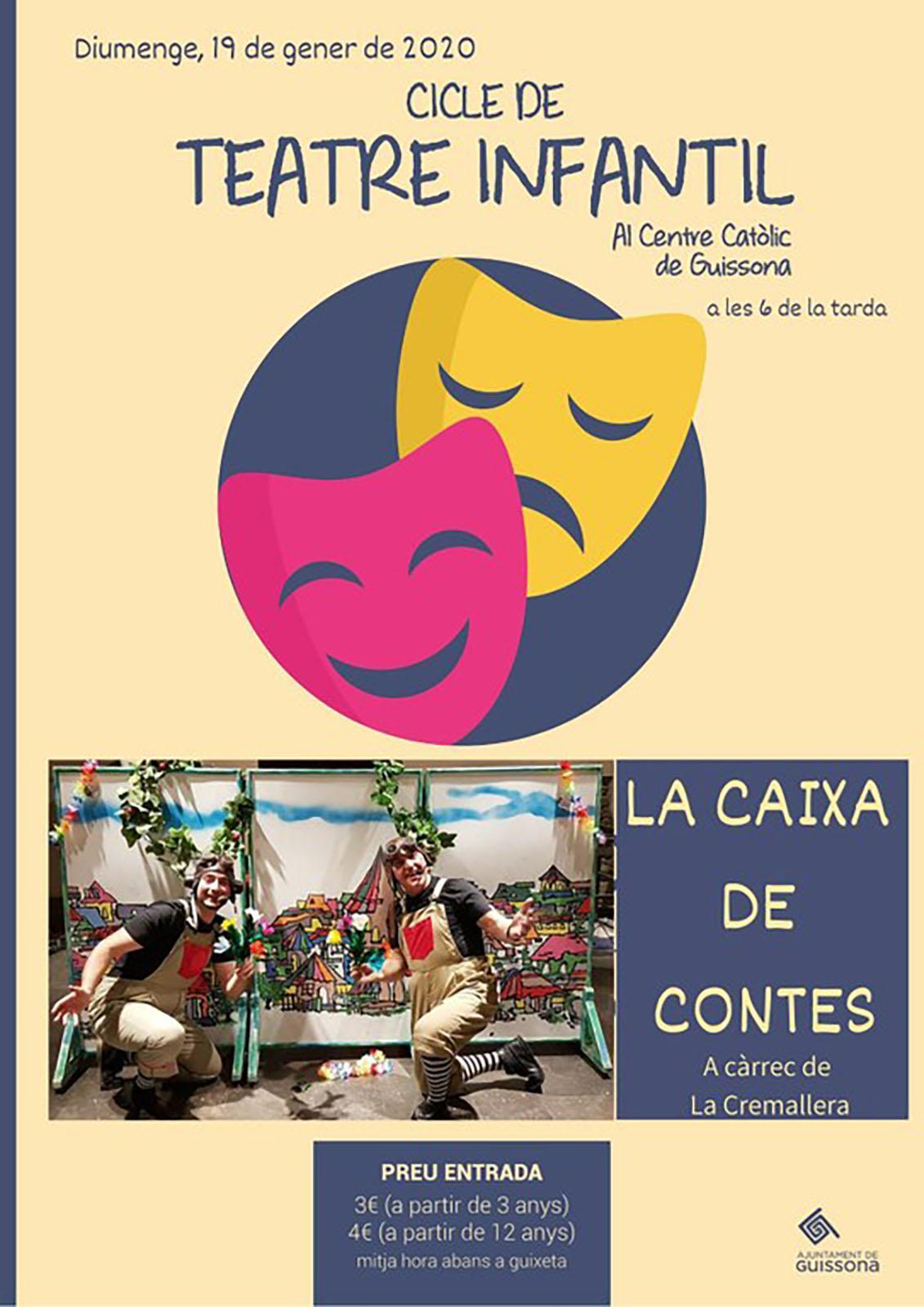 cartell Teatre infantil 'La caixa de contes'