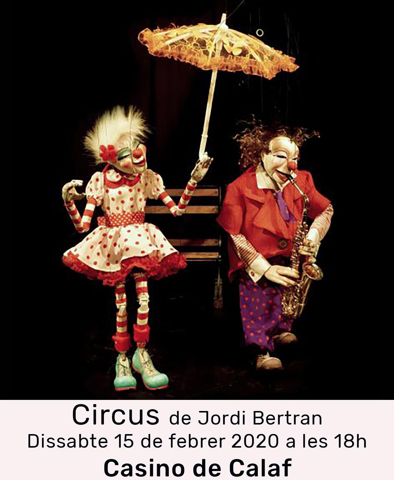 cartell Espectacle de titelles 'Circus'