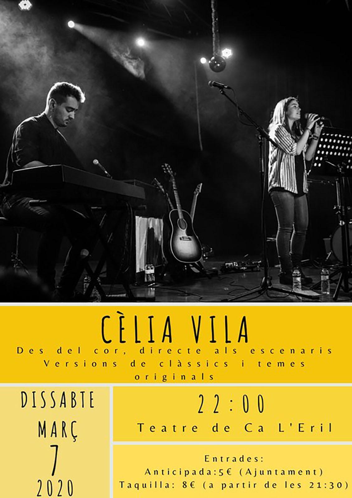 cartell Concert de Cèlia Vila