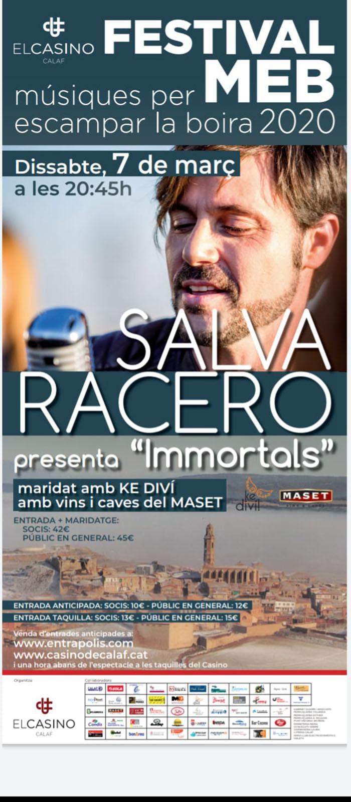 cartell Concert – Maridatge de Salva Racero
