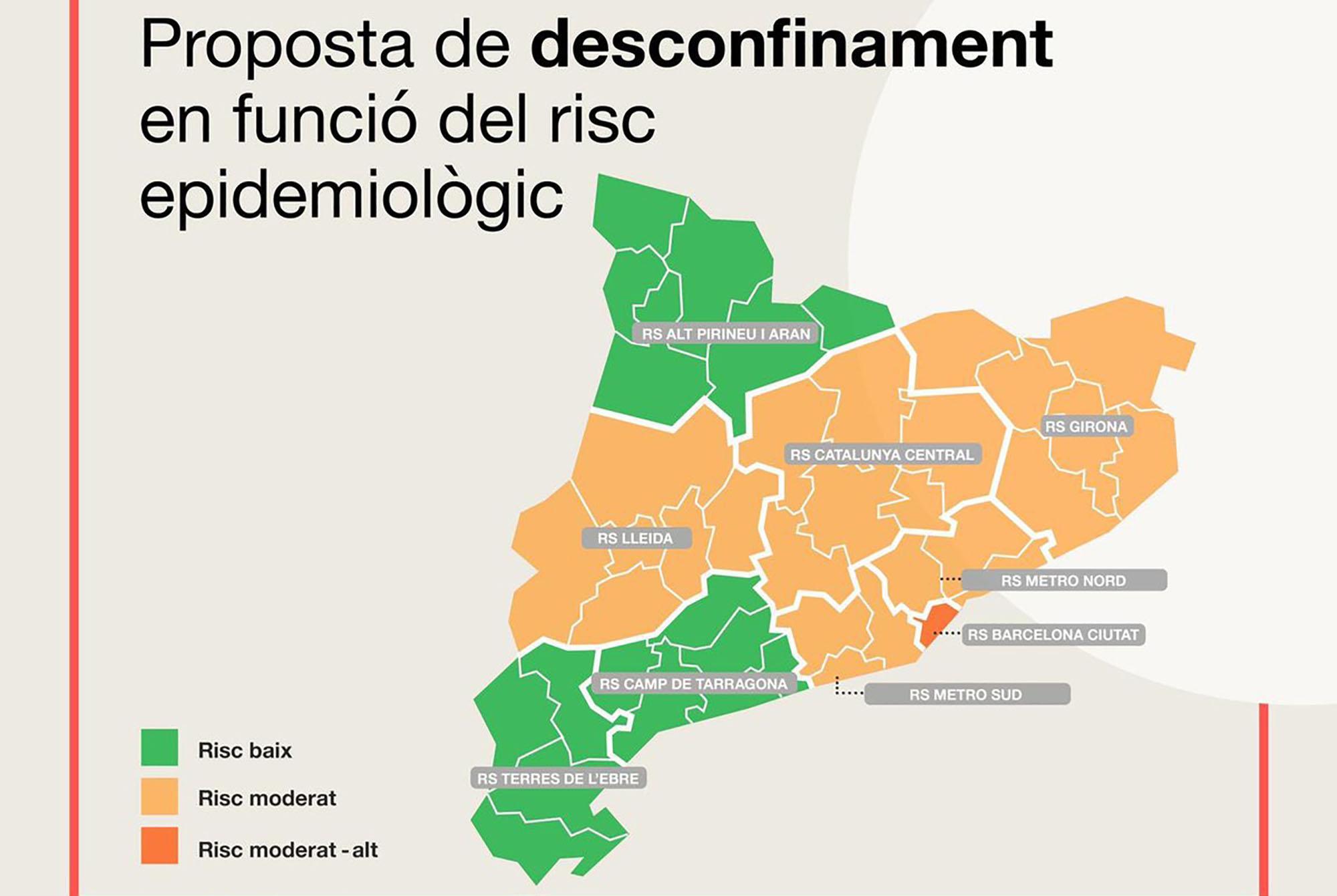Salut afegeix les regions sanitàries de Girona, Lleida i Catalunya Central a les que podrien iniciar el desconfinament gradual