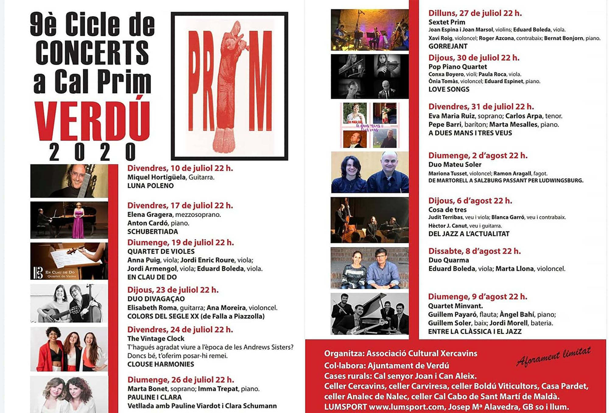 cartell 9è Cicle de concerts a cal Prim