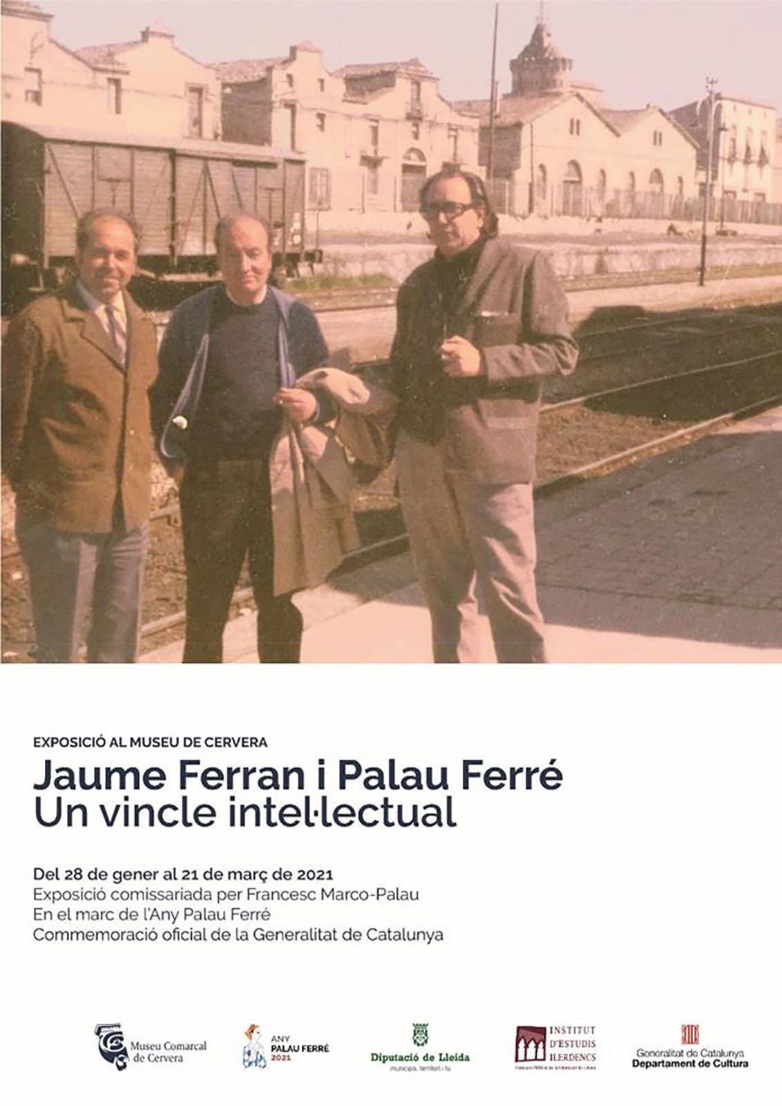 cartell Exposició ' Jaume Ferran i Palau Ferré. Un vincle intel·lectual'