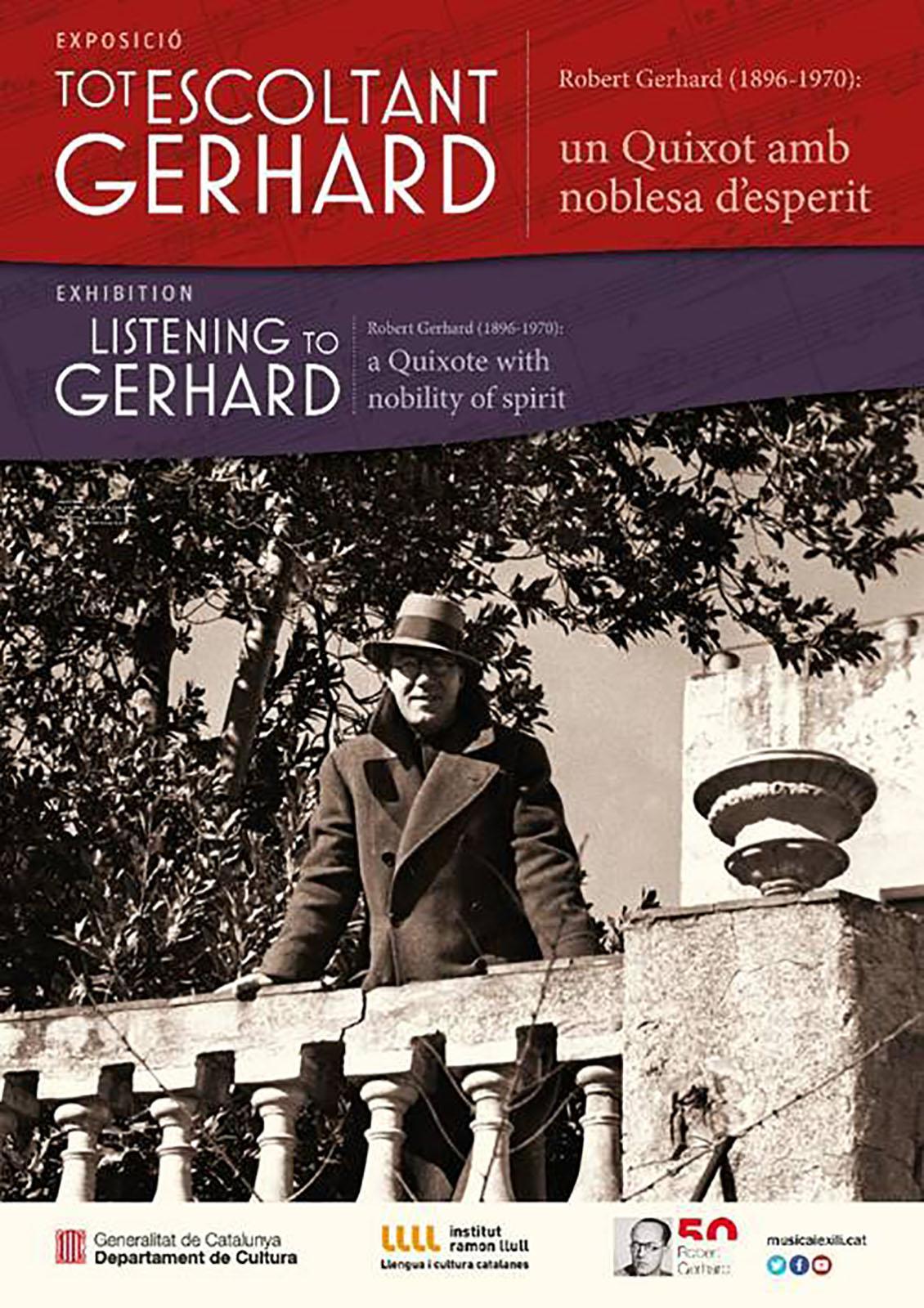 cartell Exposició 'Tot escoltant Gerhard. Un Quixot amb noblesa d'esperit'