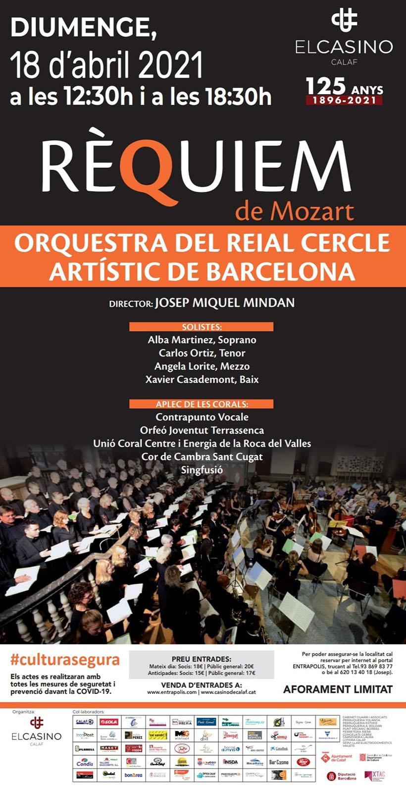cartell Concert de l'Orquestra del Reial Cercle Artístic de Barcelona