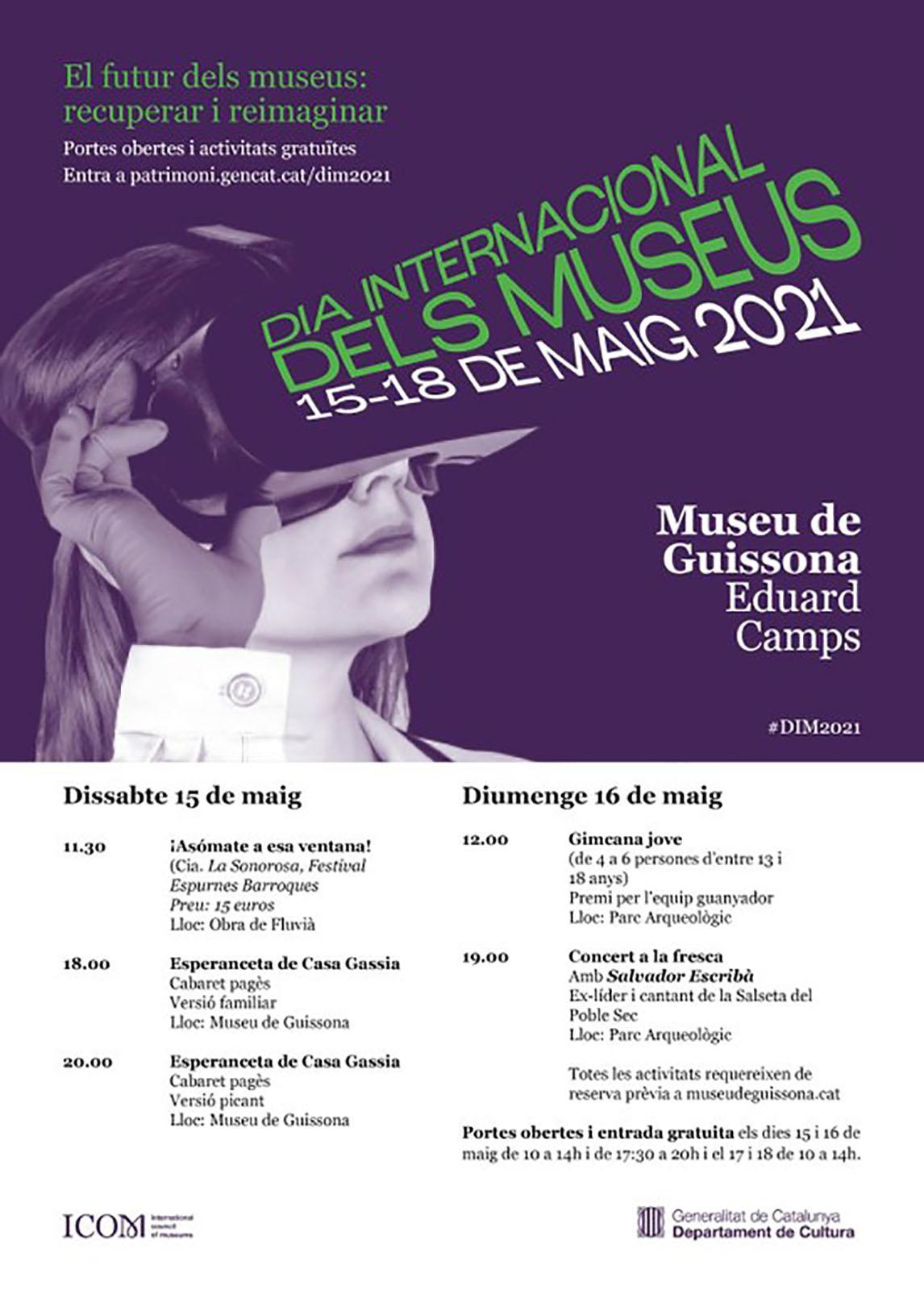 cartell Dia Internacional dels Museus a Guissona