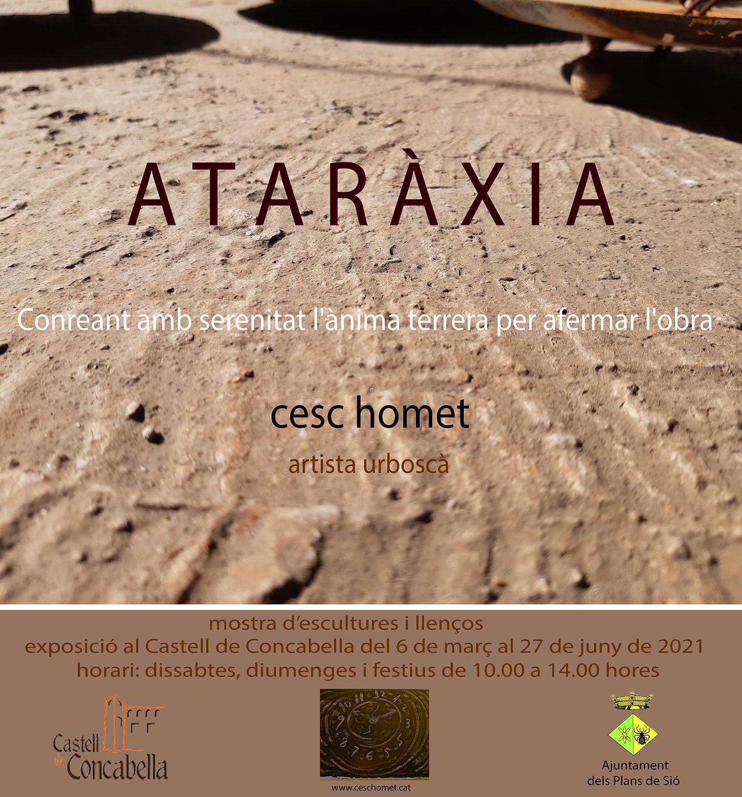 cartell Exposició 'Ataràxia' de Cesc Homet