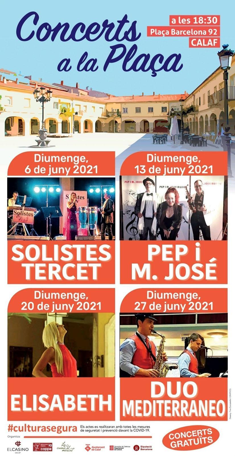cartell Concerts a la Plaça