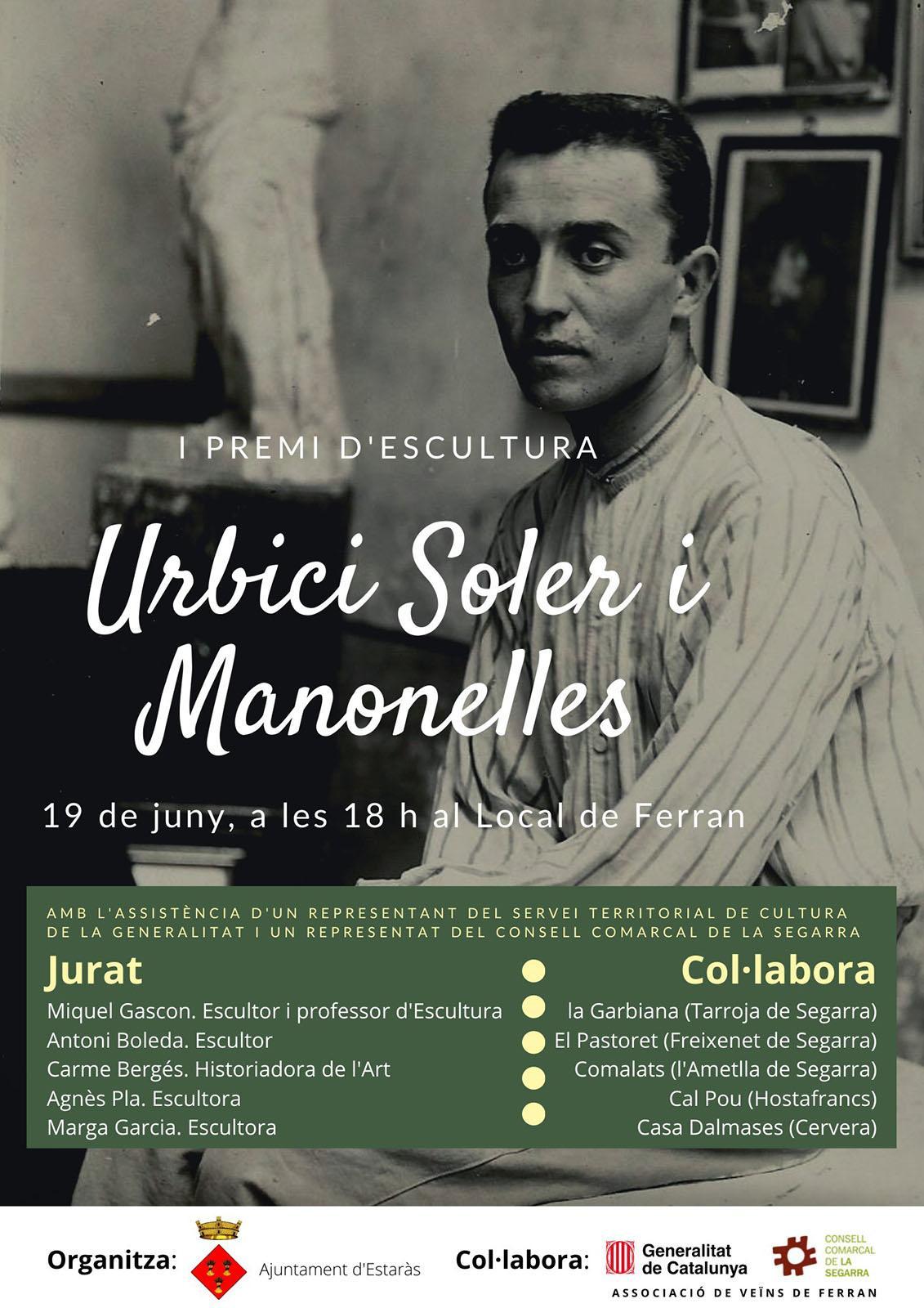 cartell Entrega del I Premi d'escultura Urbici Soler